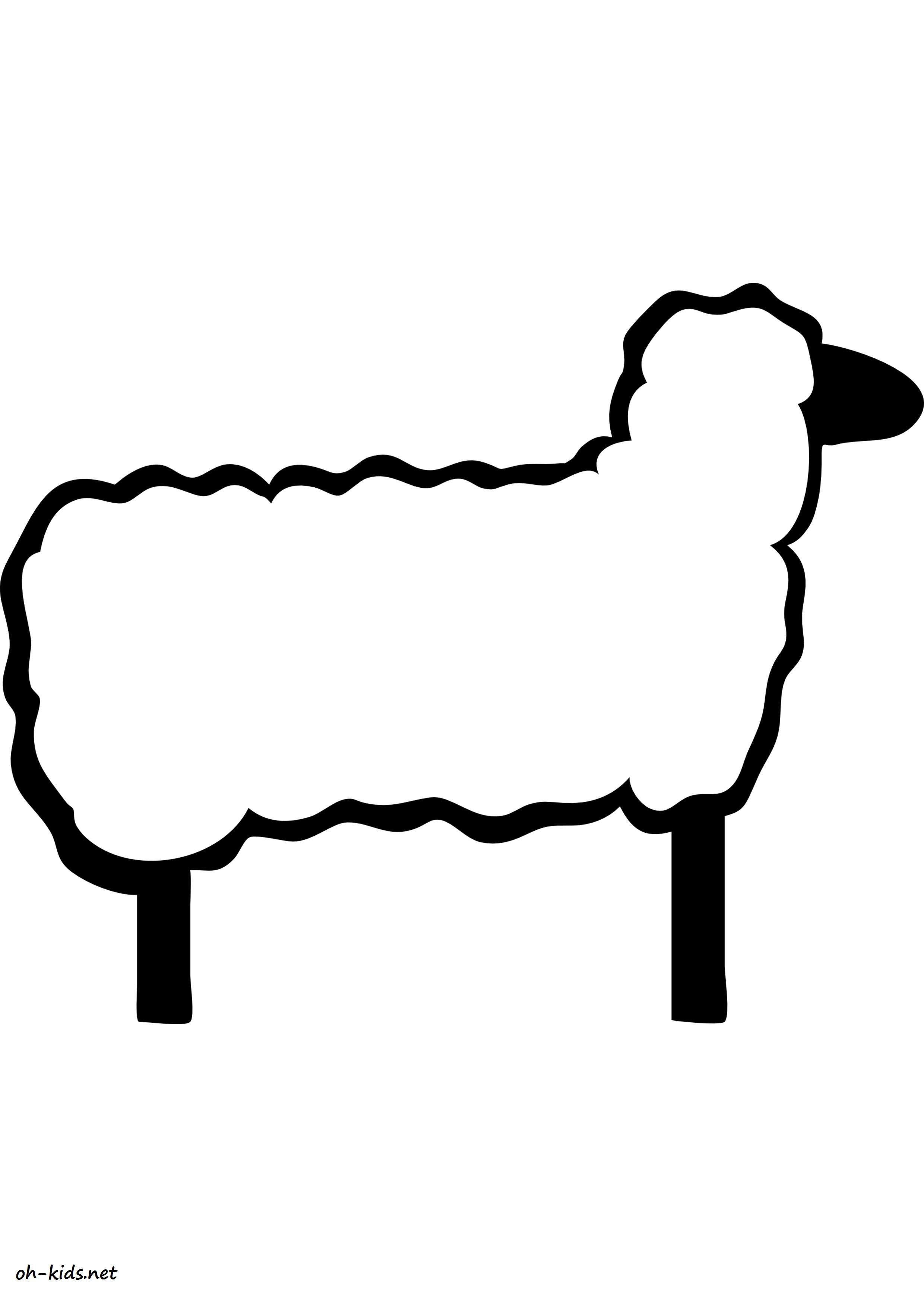 Coloriage agneau oh kids fr - Coloriage agneau ...