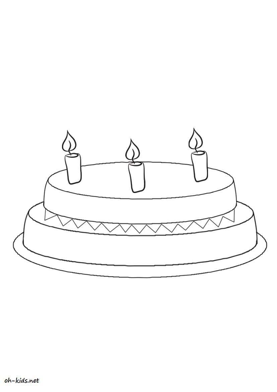 coloriage anniversaire à colorier - Dessin #178