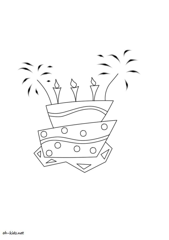 dessin gratuit de anniversaire a imprimer et colorier - Dessin #180
