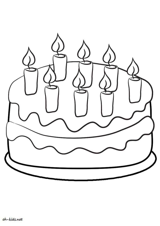 Coloriage anniversaire - Dessin #171