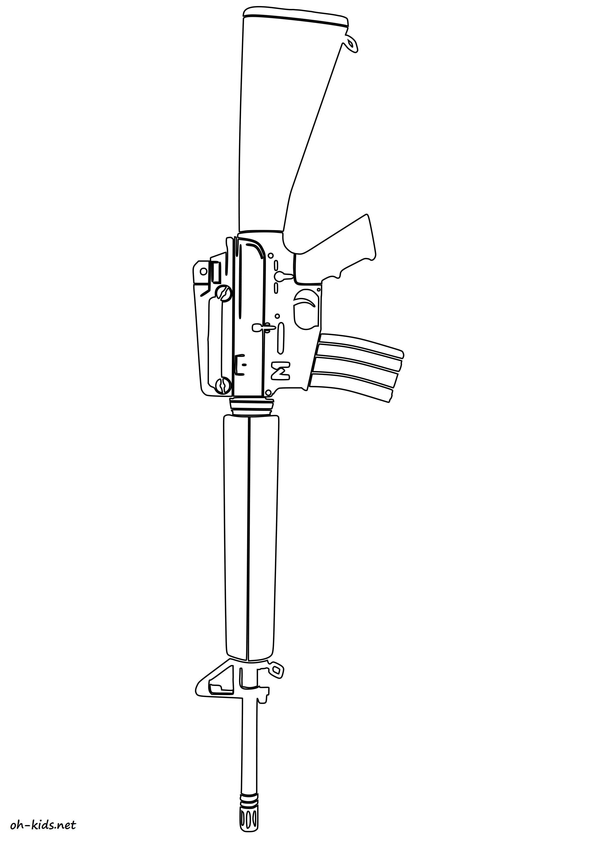 une belle image de armes à colorier et imprimer - Pour enfants - Dessin #487
