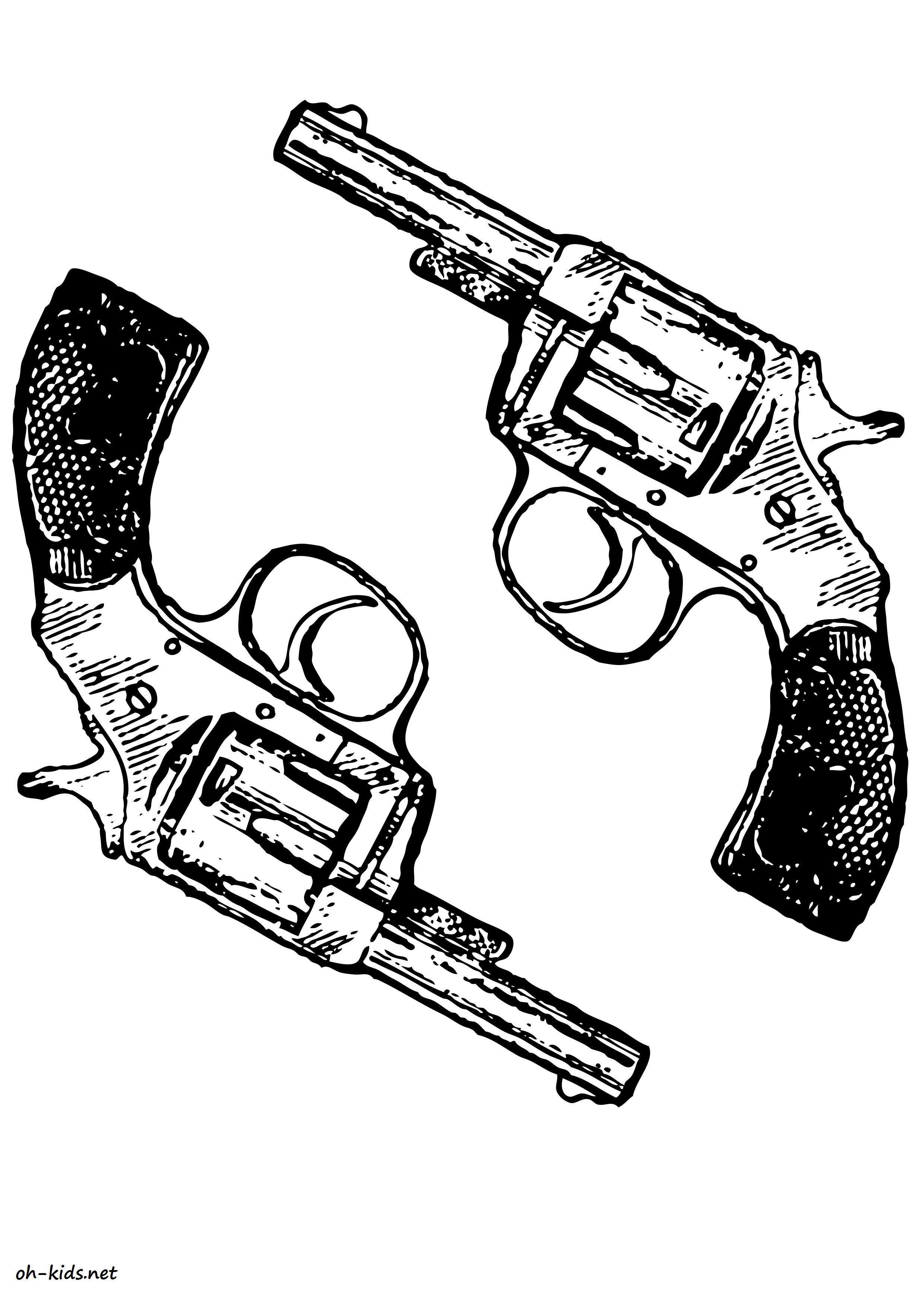 jeux de coloriage armes - Dessin #490