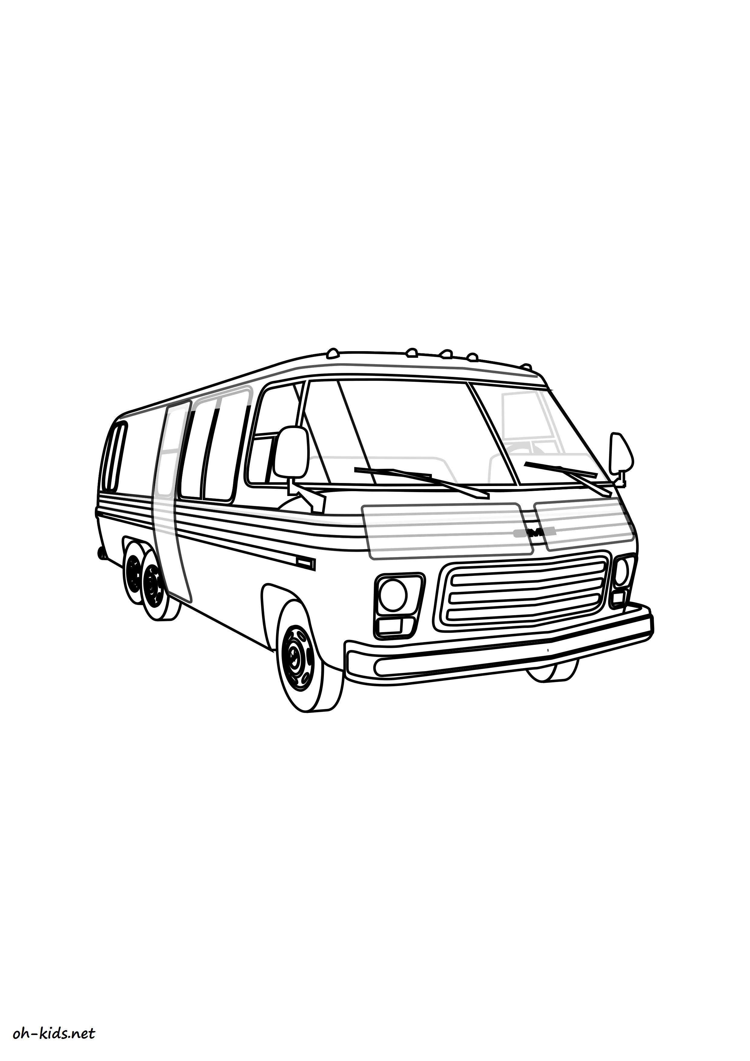 coloriage de autocar imprimer et colorier - Dessin #1403
