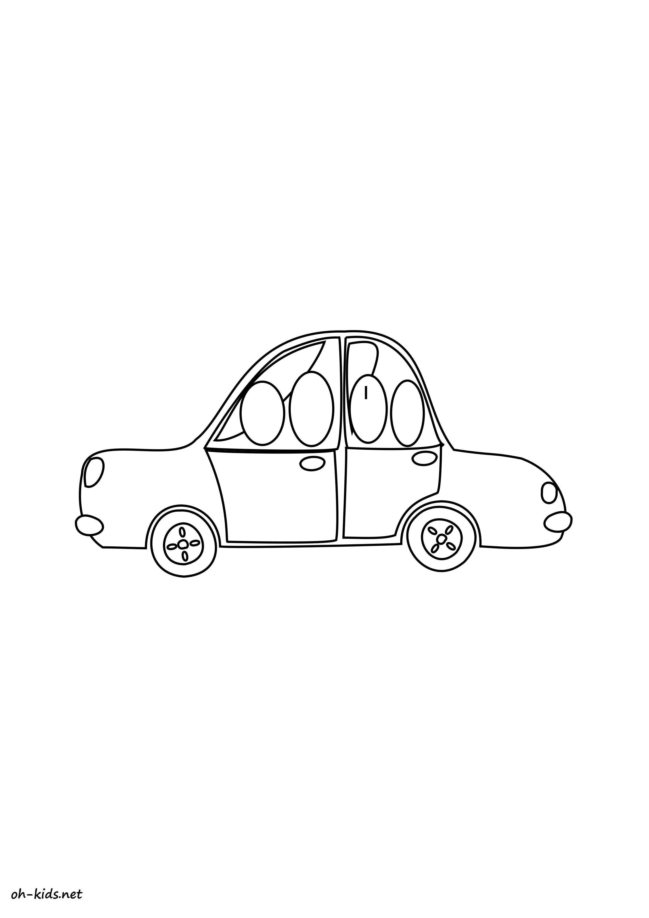 dessin de automobile à colorier - Dessin #1422