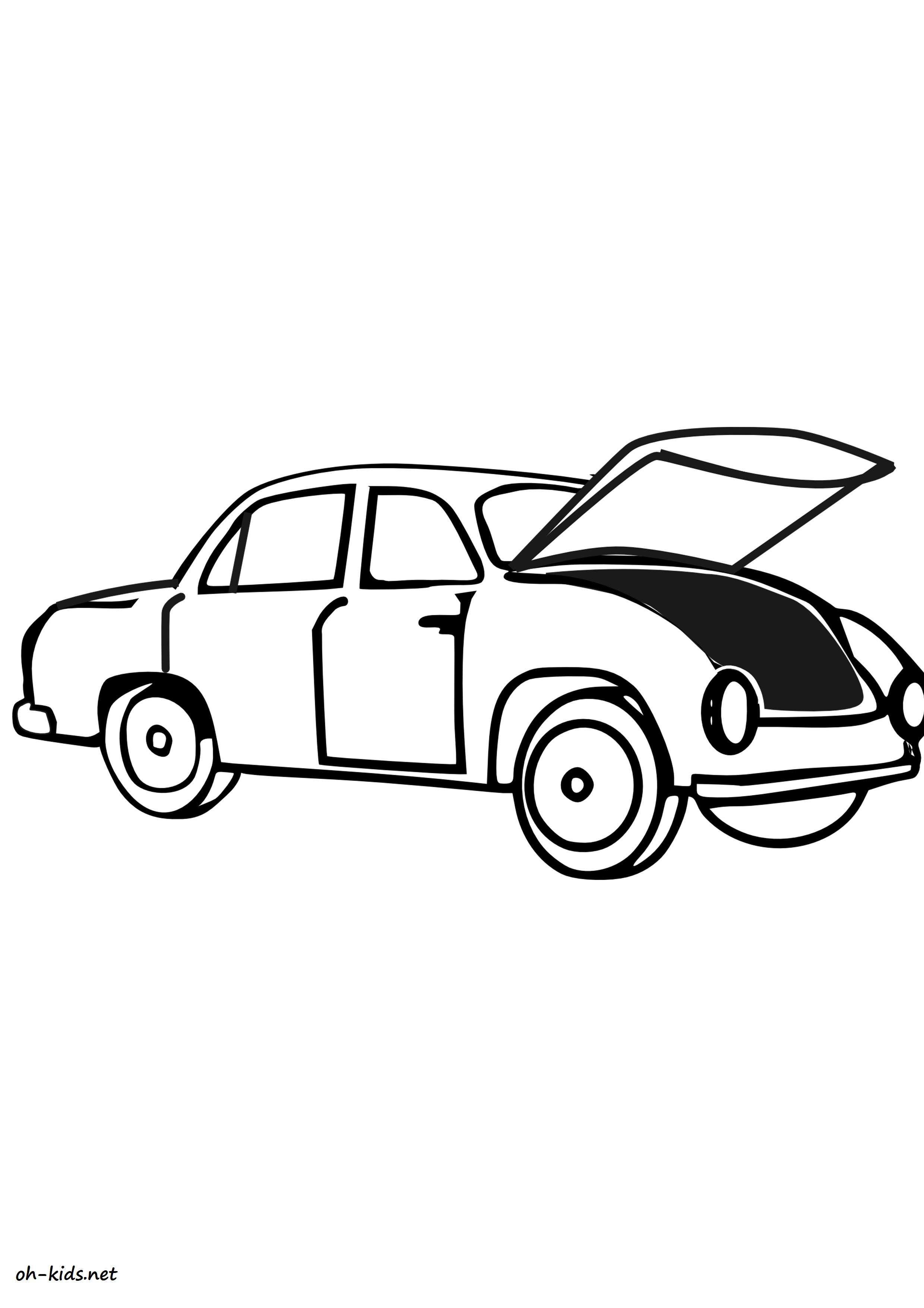 une jolie image de automobile a colorier - niveau débutant - Dessin #1425