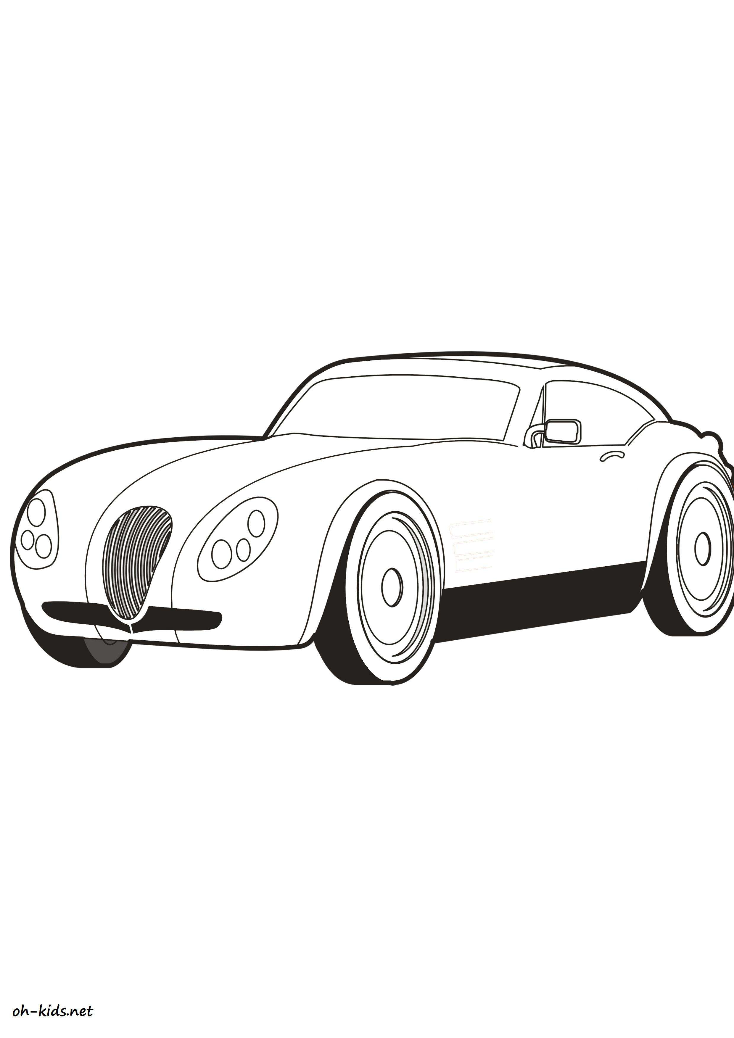 Coloriage de automobile gratuit à imprimer - Dessin #1428