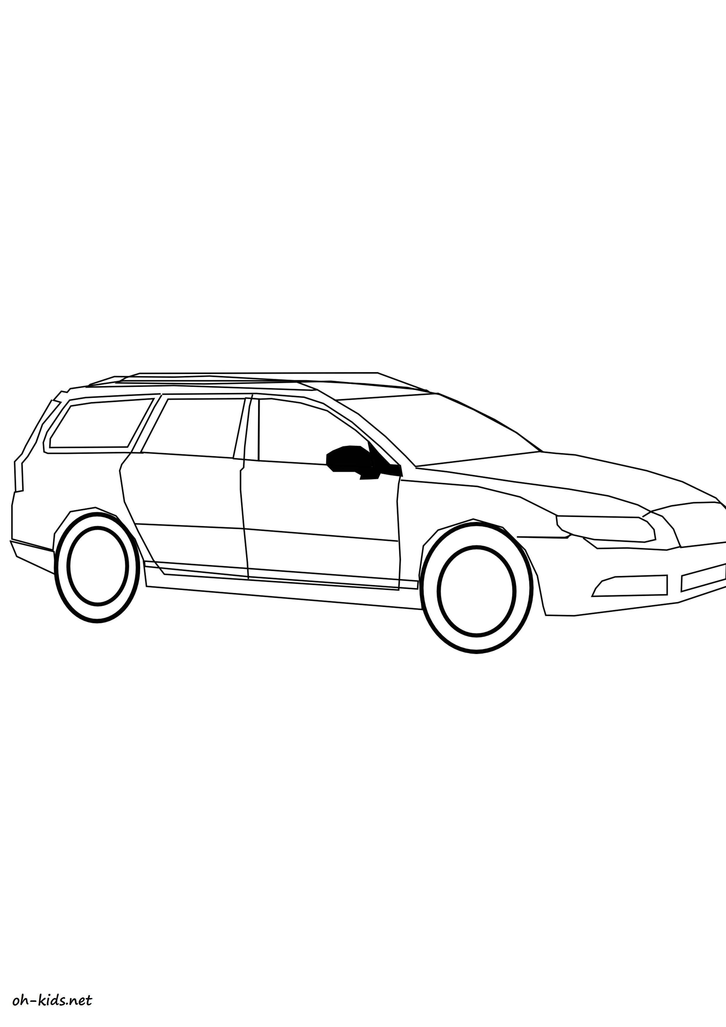 activité de coloriage automobile gratuit a imprimer et colorier - Dessin #1429