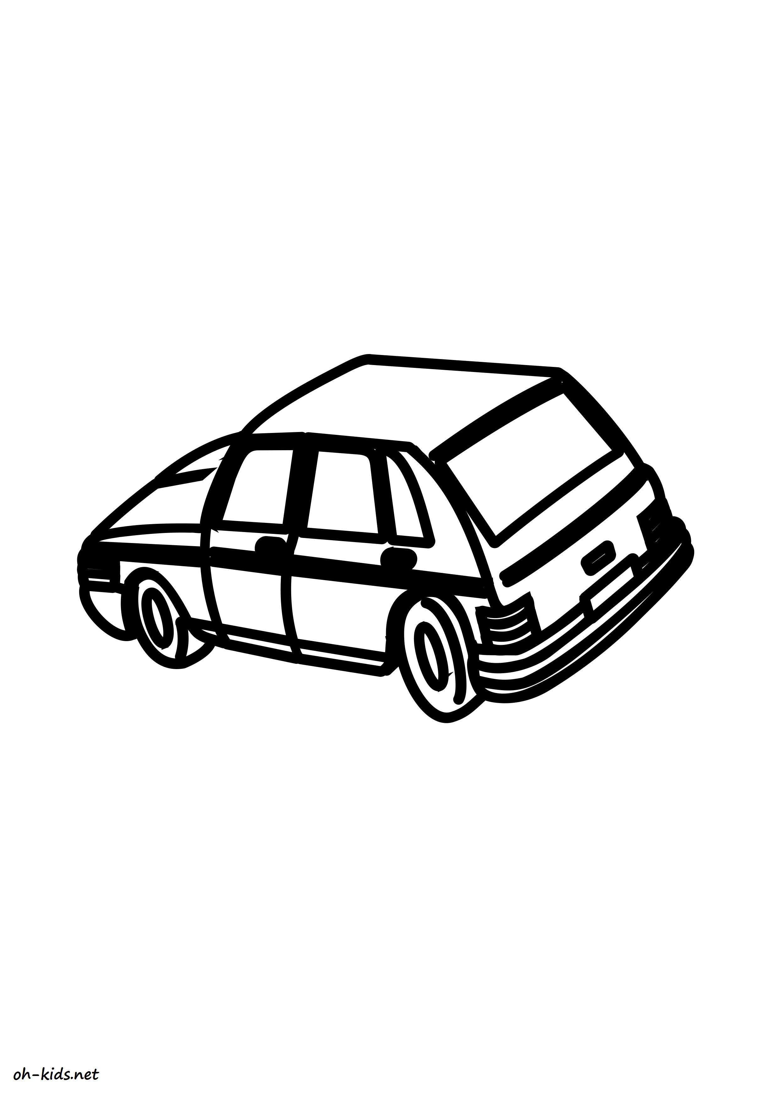 Coloriage de automobile gratuit a imprimer et colorier - Dessin #1433