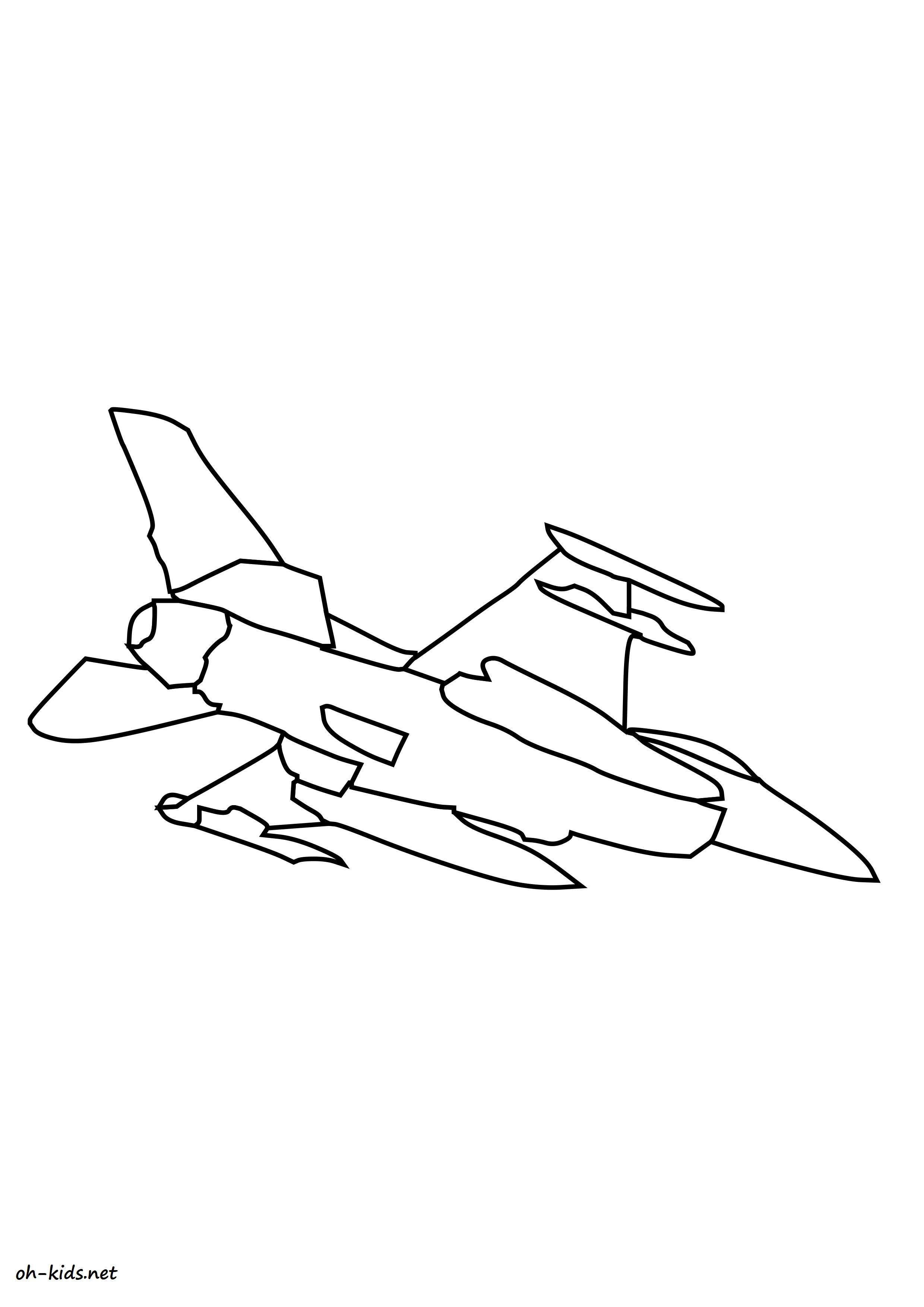 Dessin de avion de chasse imprimer et colorier - Dessin #1440