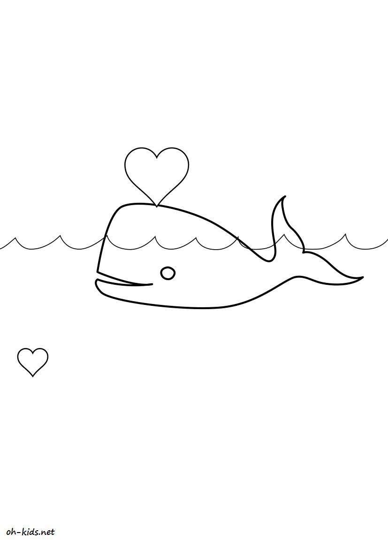 dessin de baleine a imprimer - Dessin #9
