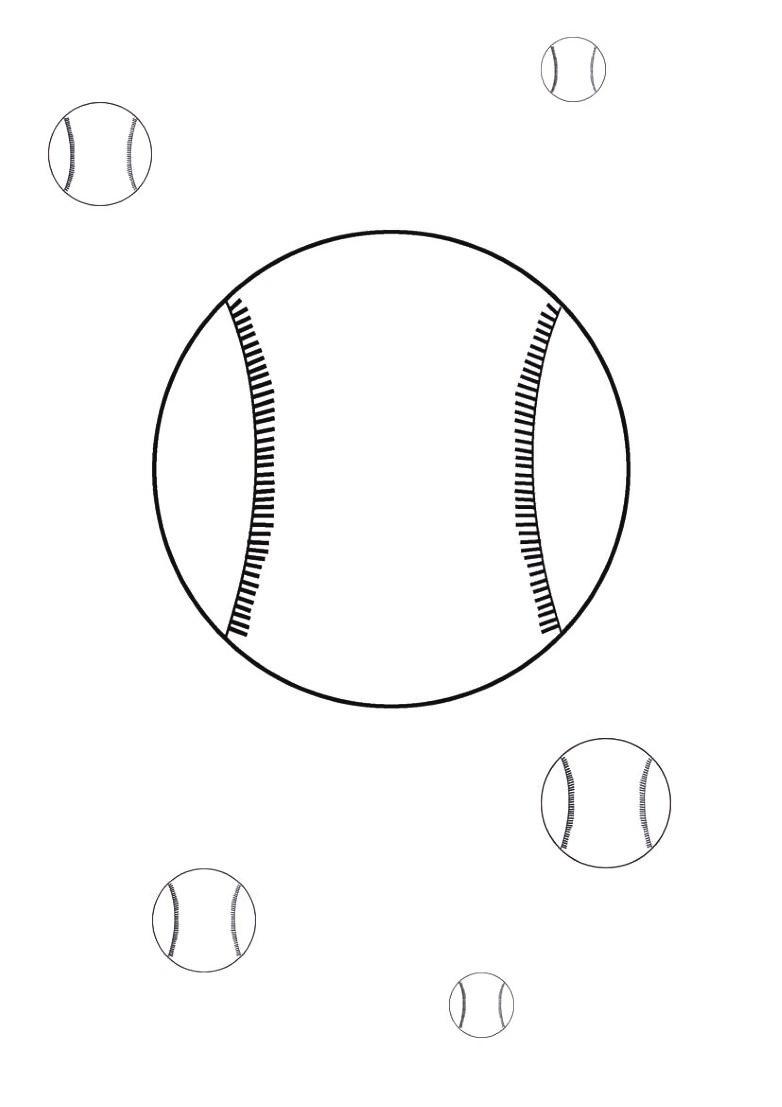dessin de baseball gratuit a imprimer et colorier - Dessin #797
