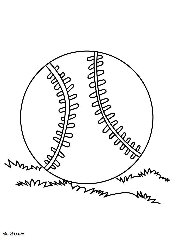 Dessin gratuit baseball à imprimer - Dessin #799