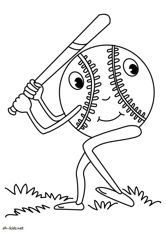 image de baseball a colorier - Dessin #800