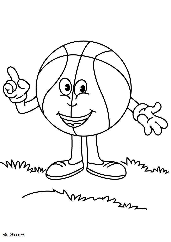 Une Jolie image de basketball à colorier et imprimer - Dessin #806