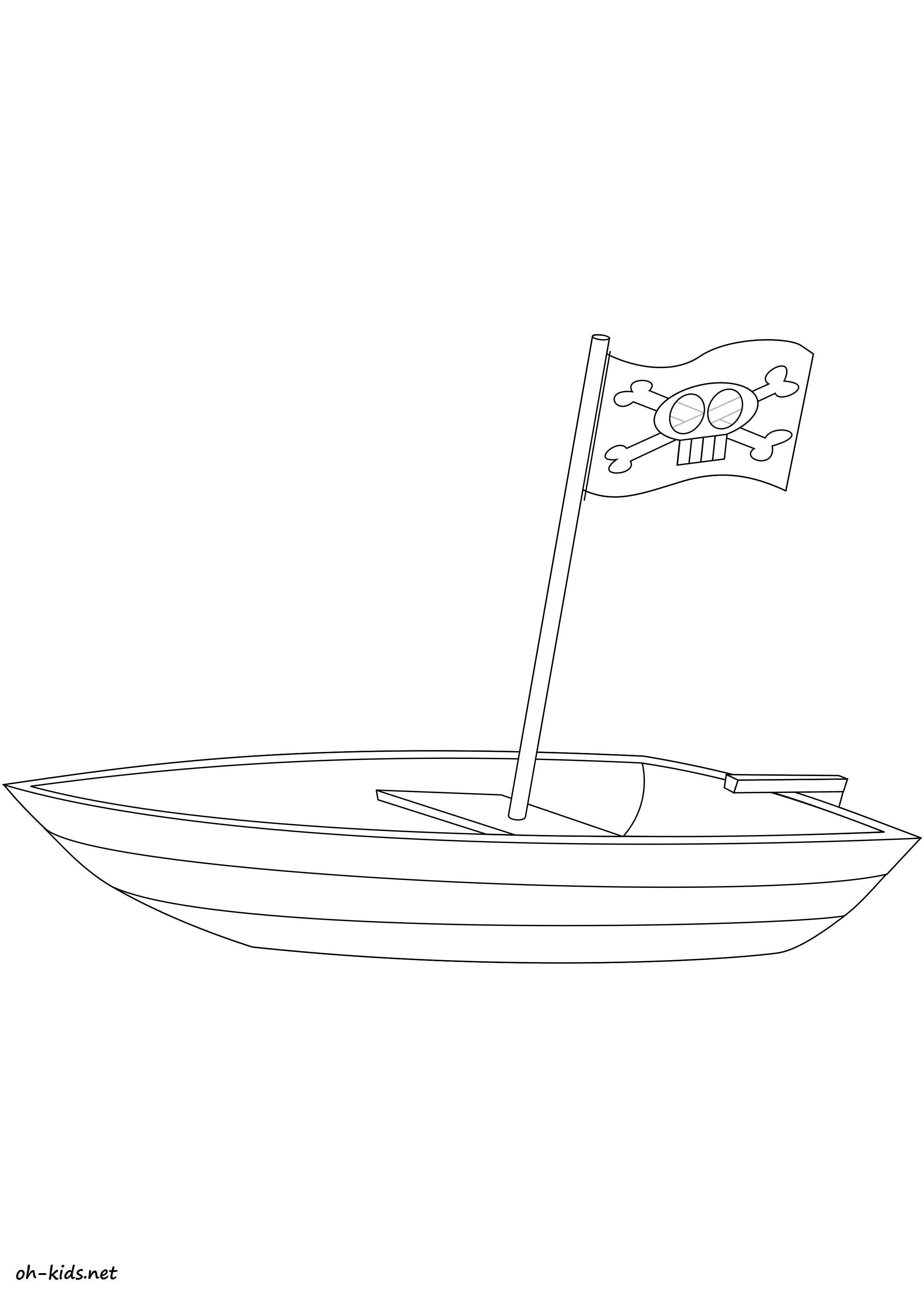 Coloriage bateau de guerre a colorier - Dessin #1444