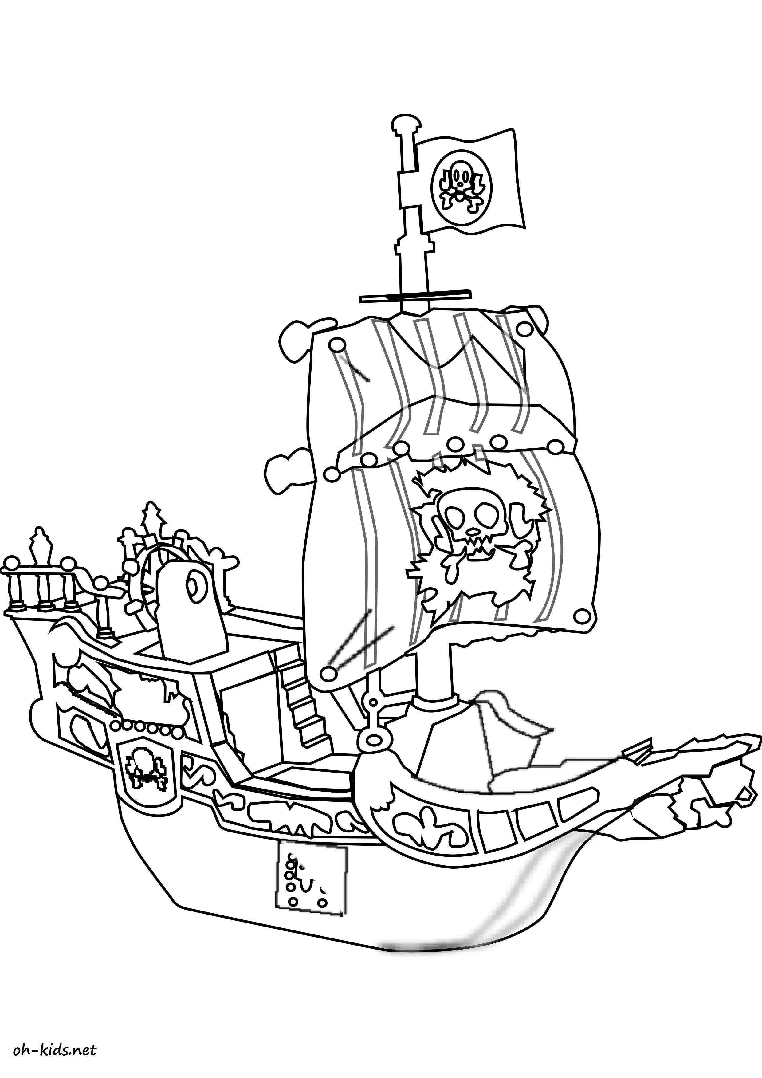 Coloriage Bateau De Guerre Gratuit.Dessin 1446 Coloriage Bateau De Guerre A Imprimer Oh Kids Net