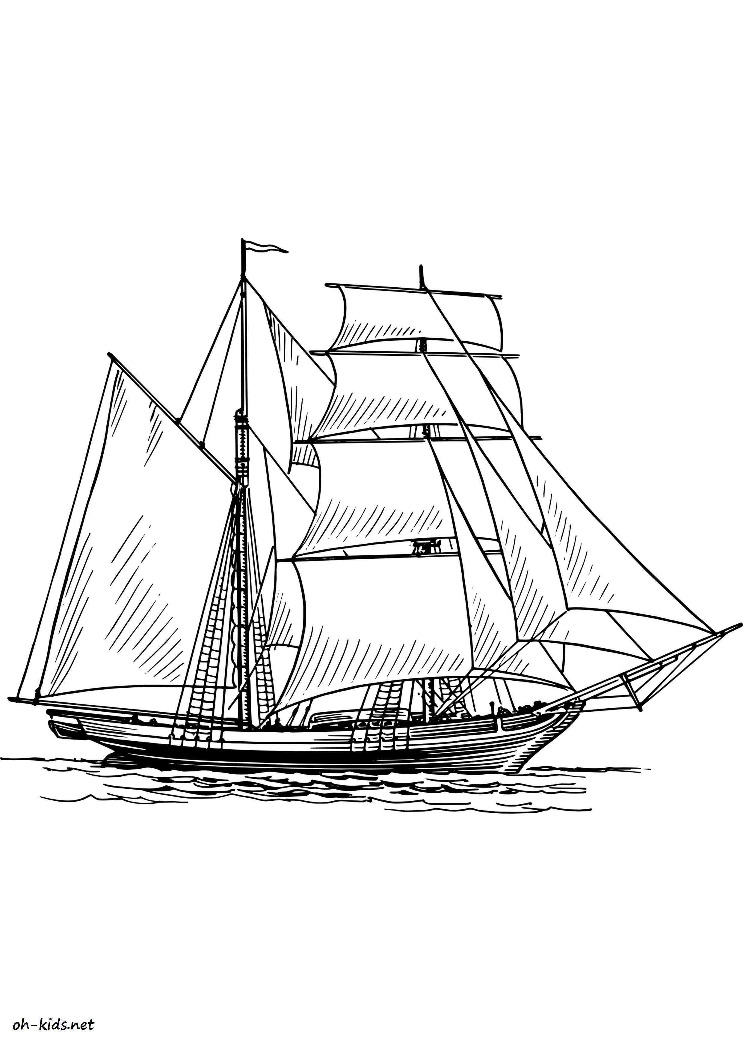 coloriage bateau de guerre - Dessin #1451