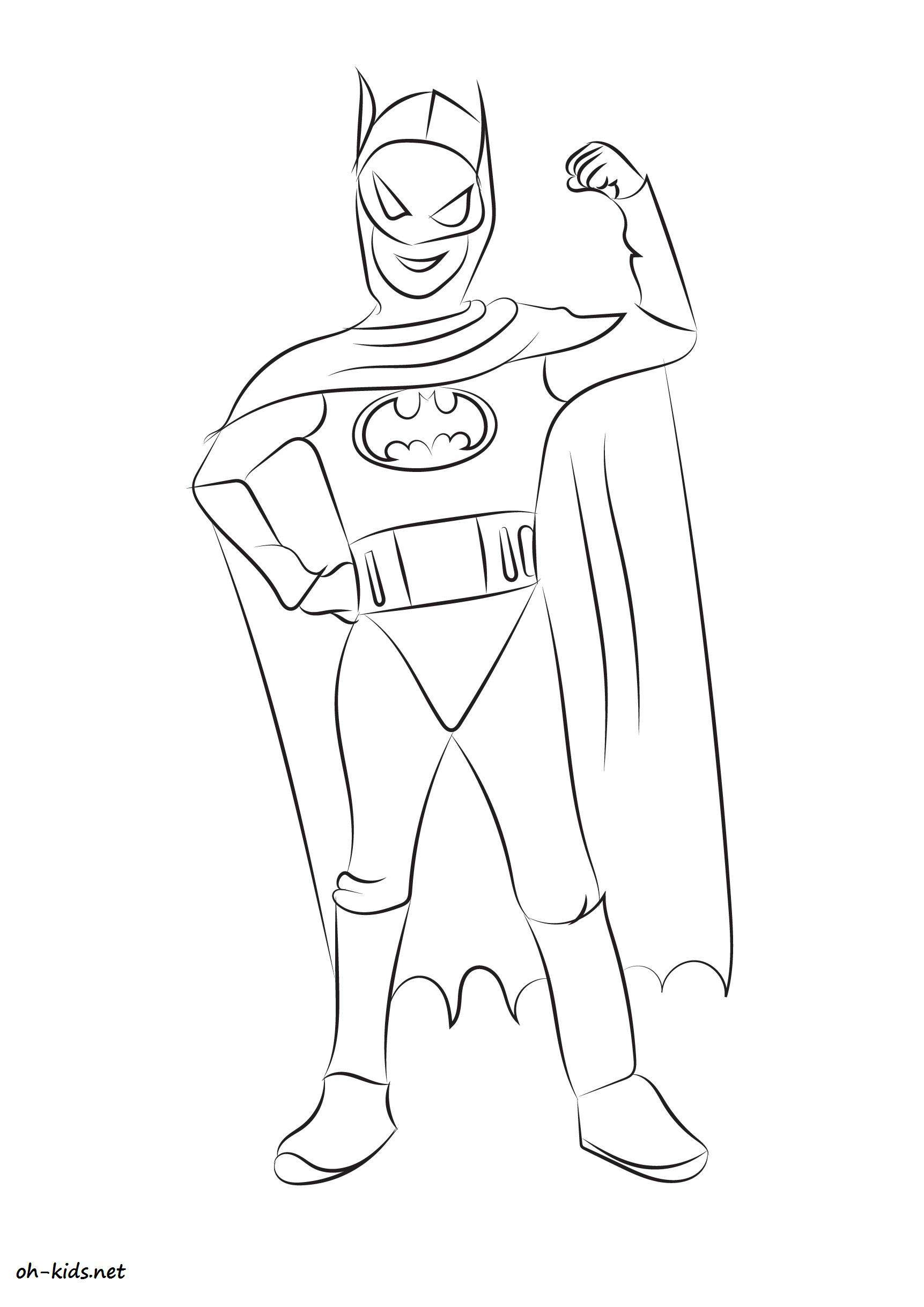 Coloriage batman oh kids fr - Coloriage batman ...