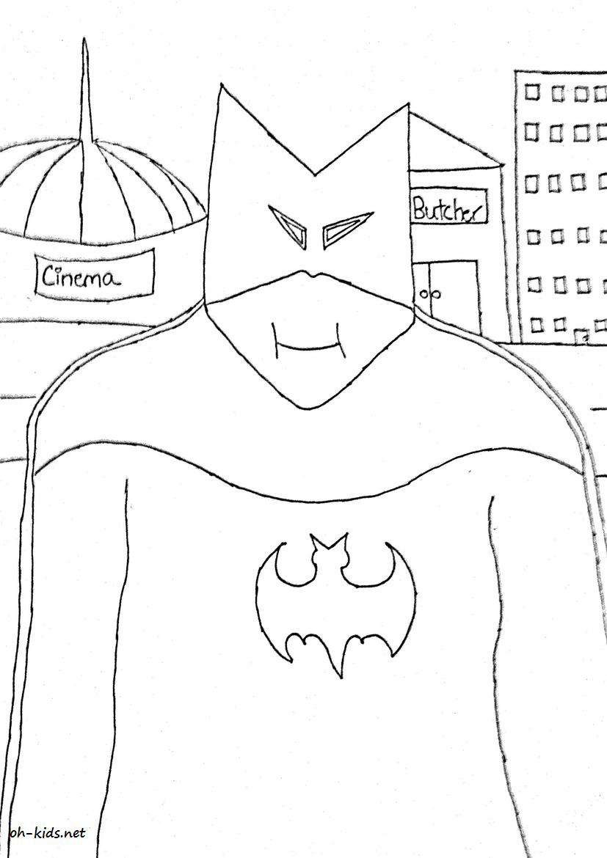 Coloriage Batman Gratuit.Dessin 809 Coloriage Batman A Imprimer Oh Kids Net