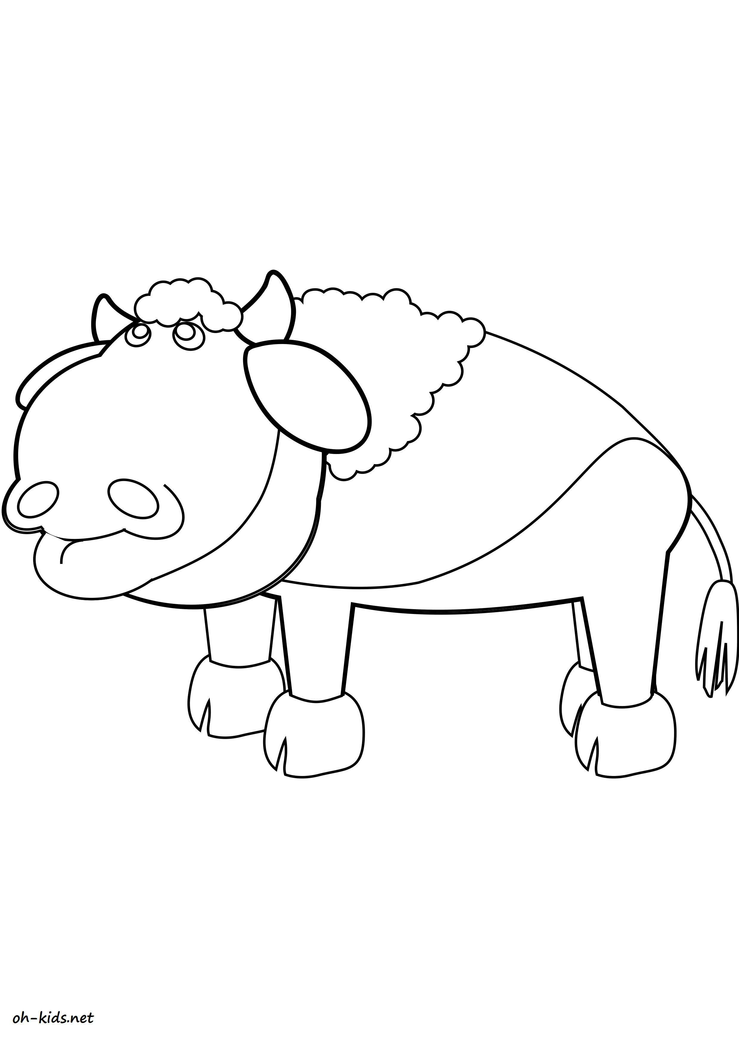 Coloriage bison page 2 of 2 oh kids fr - Coloriage bison ...