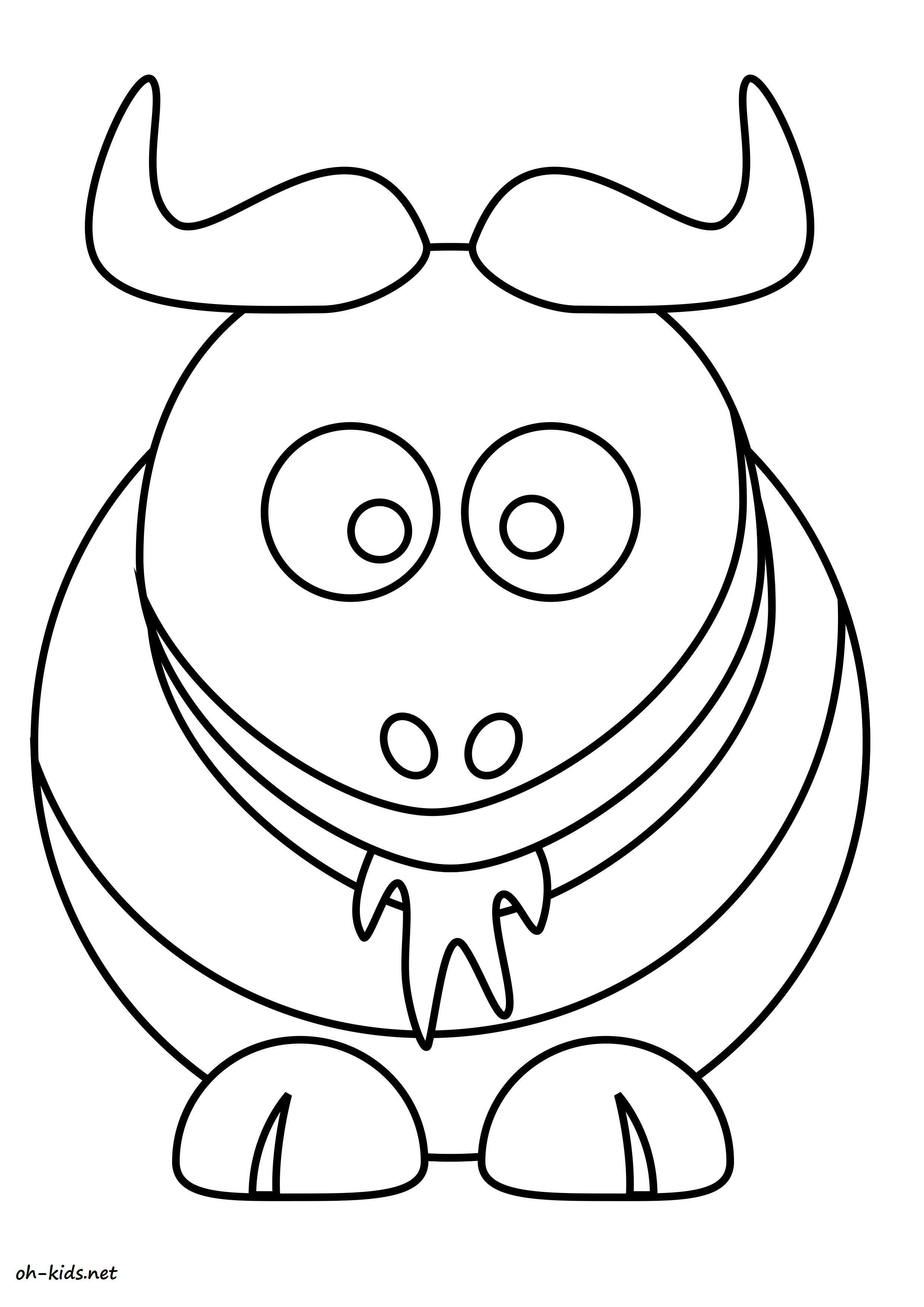Coloriage bison page 2 of 2 oh kids fr - Bison coloriage ...