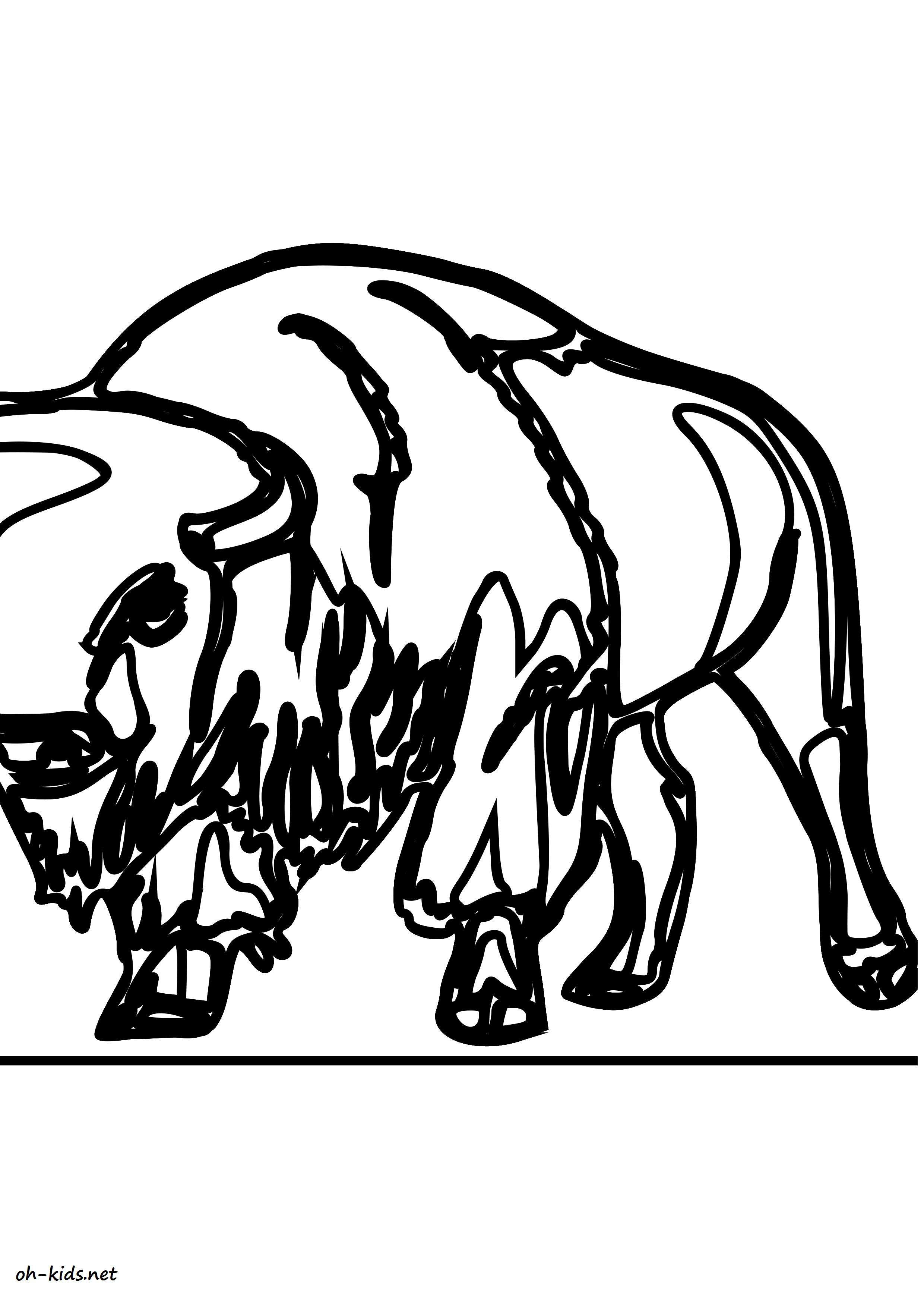 Coloriage animaux page 31 of 84 oh kids fr - Coloriage bison ...