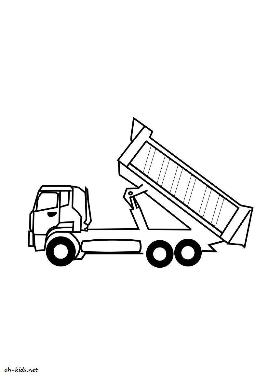 Dessin Camion Benne Coloriage.Dessin 864 Coloriage Camion Benne A Imprimer Oh Kids Net