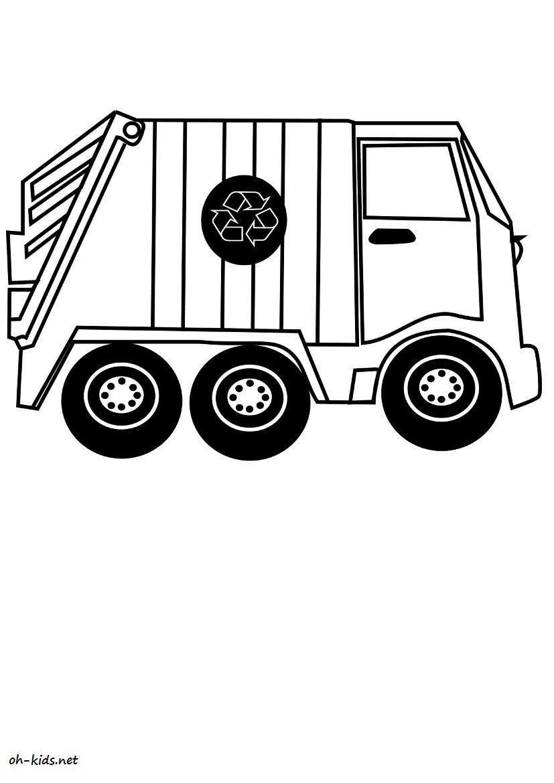 Dessin 893 Coloriage Camion Poubelle à Imprimer Oh Kidsnet