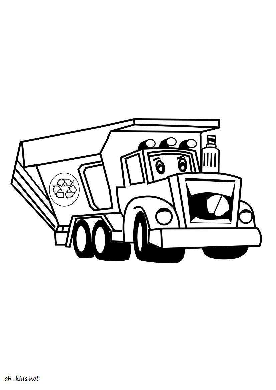 Dessin 896 Coloriage Camion Poubelle à Imprimer Oh Kidsnet