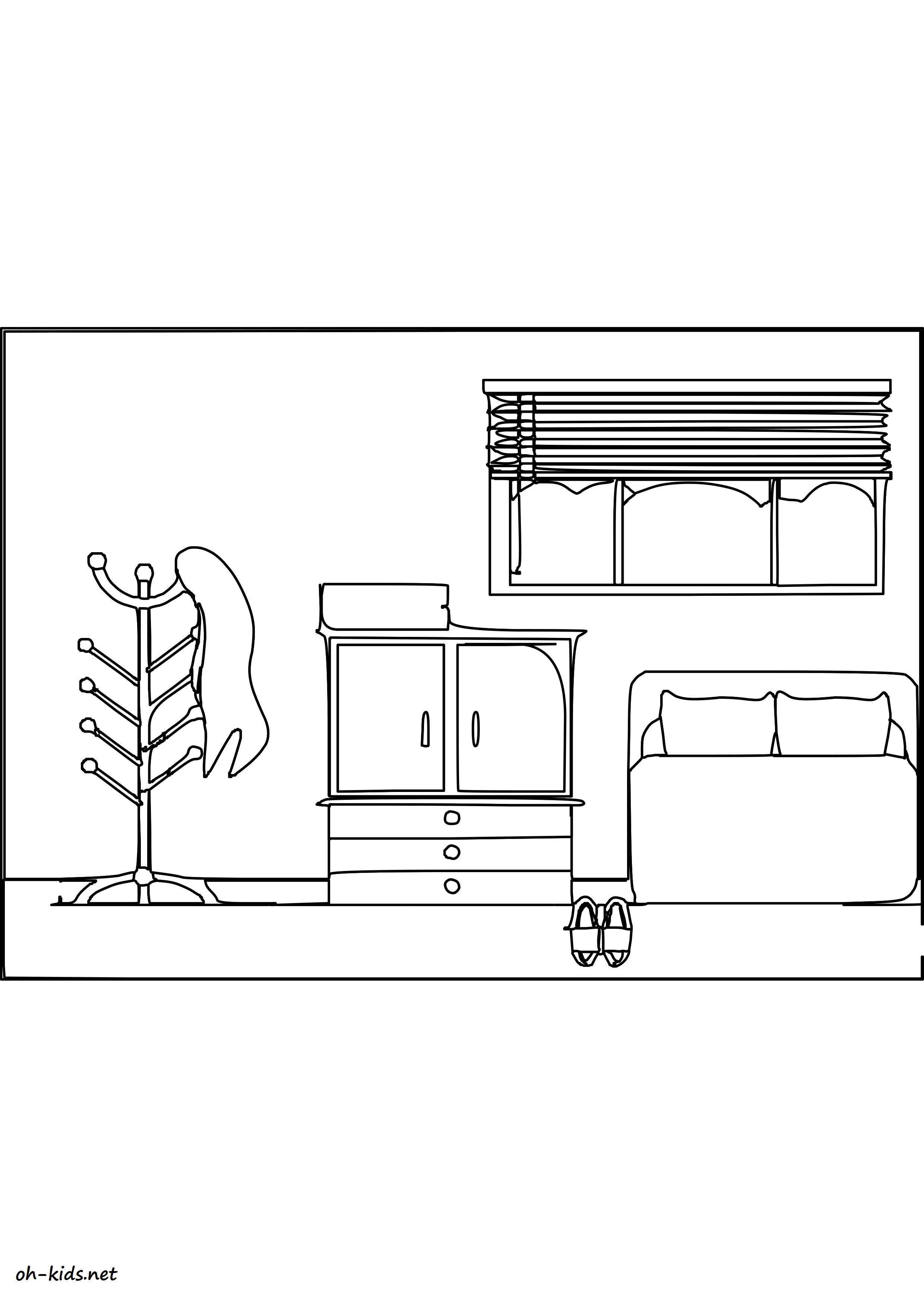 coloriage chambre dessin 548 - Dessin De Chambre