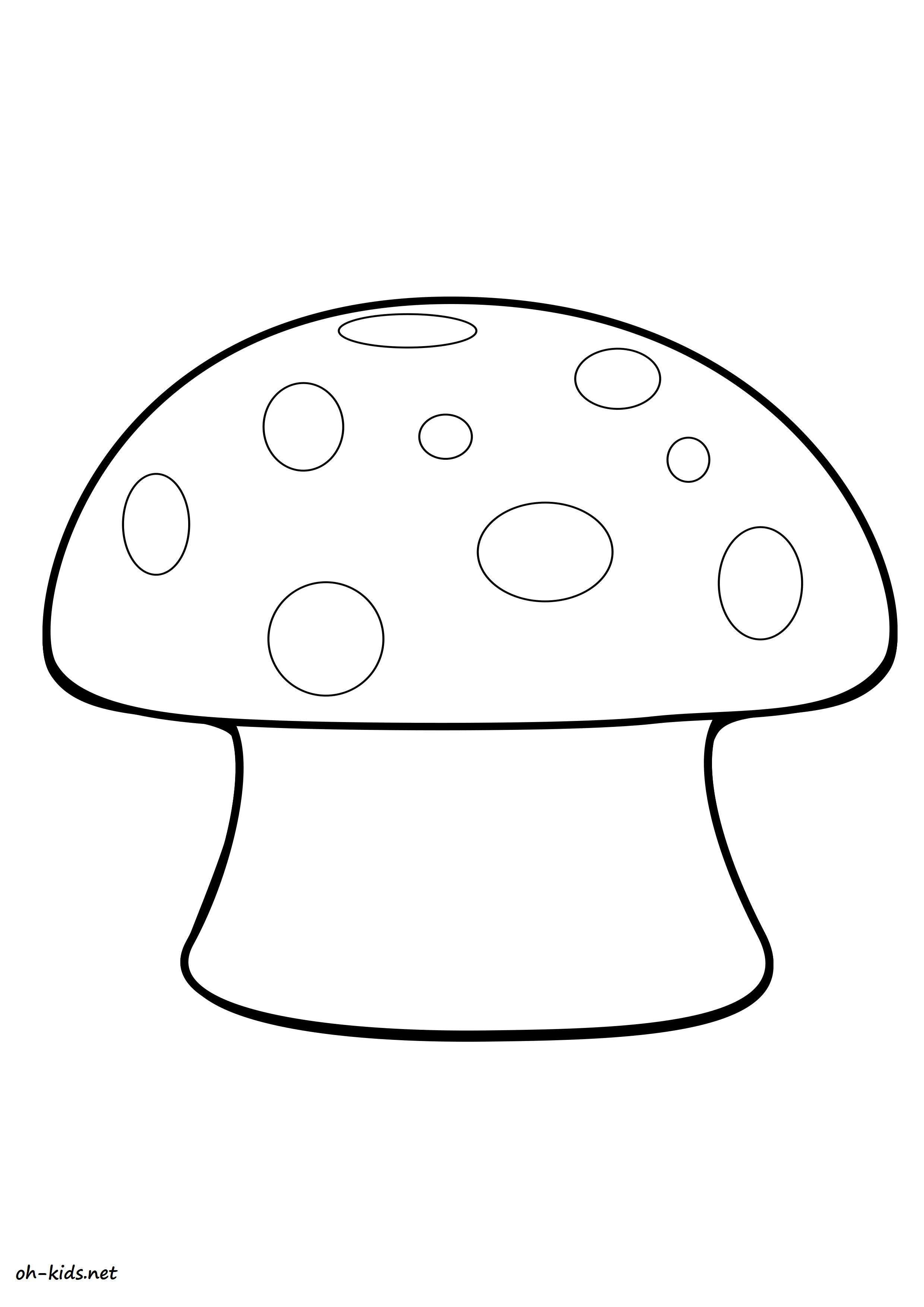 Coloriage champignon oh kids fr - Dessin de champignons a imprimer ...