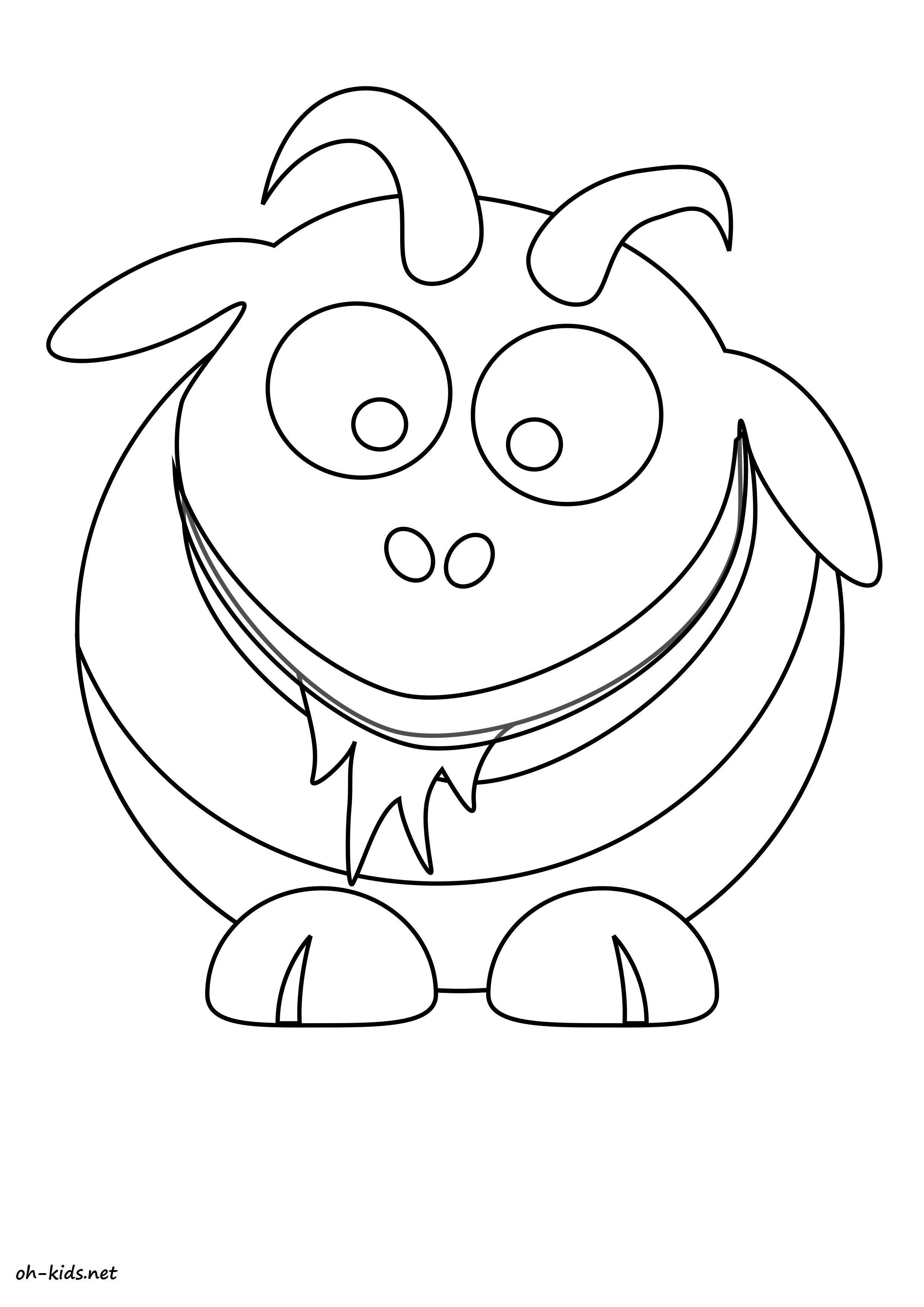 Coloriage animaux page 18 of 84 oh kids fr - Coloriage de chevre ...