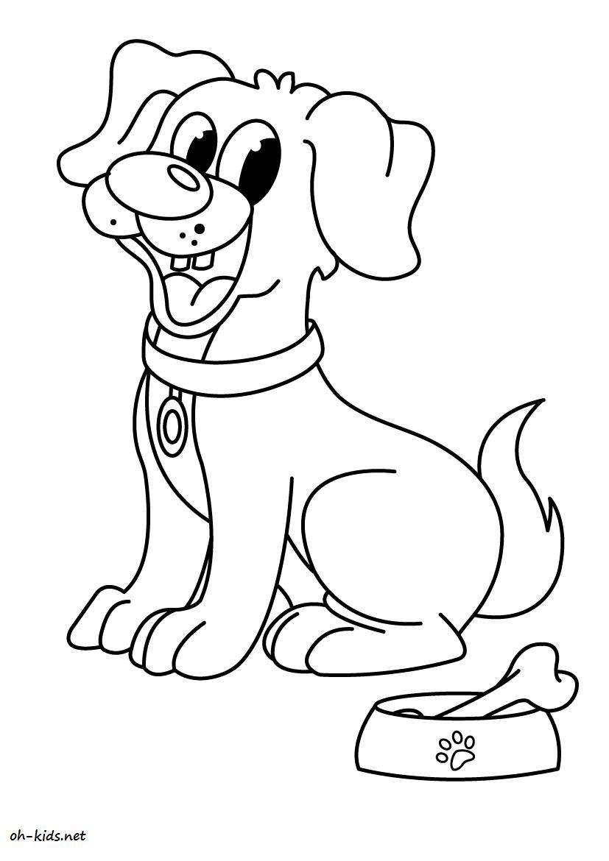 Coloriage de chien gratuit - Coloriage de chien ...