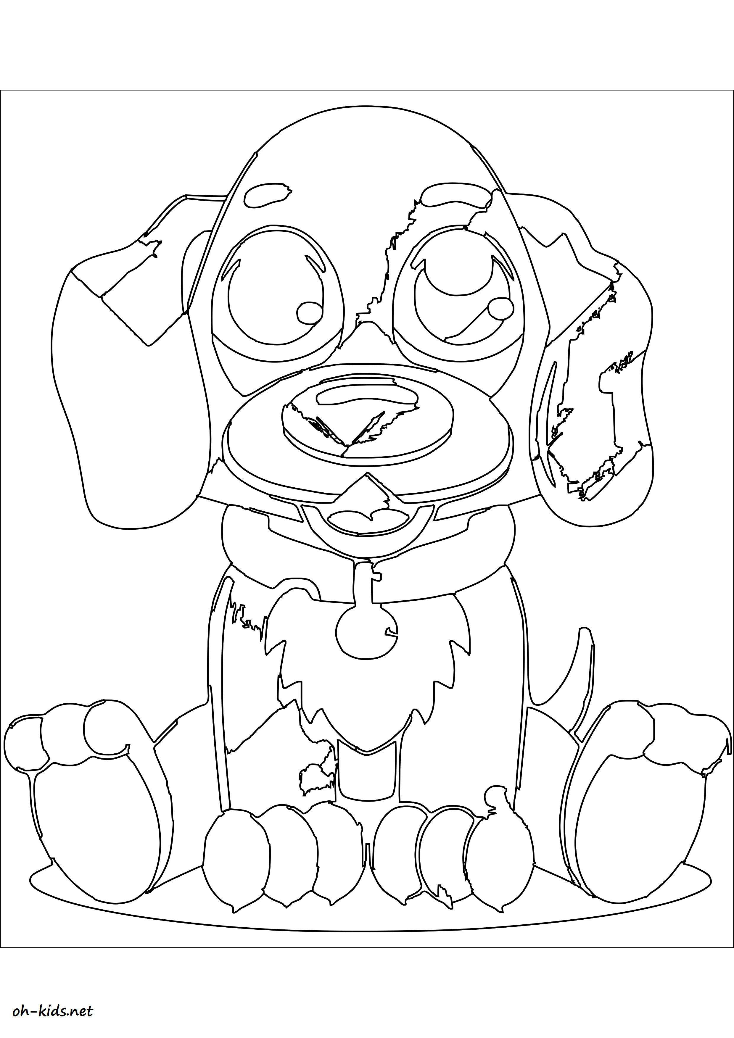 Coloriage chiot oh kids fr - Chiot coloriage ...