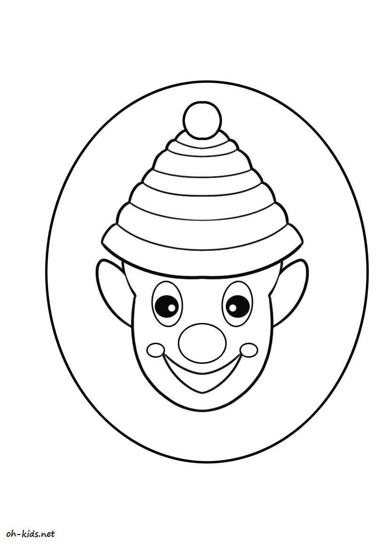 coloriage clown a imprimer et colorier - Dessin #198