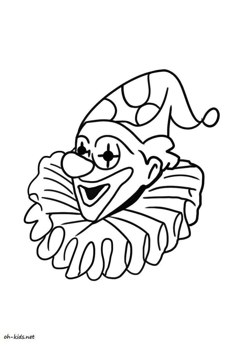 Coloriage clown page 2 of 2 oh kids fr - Clown coloriage ...