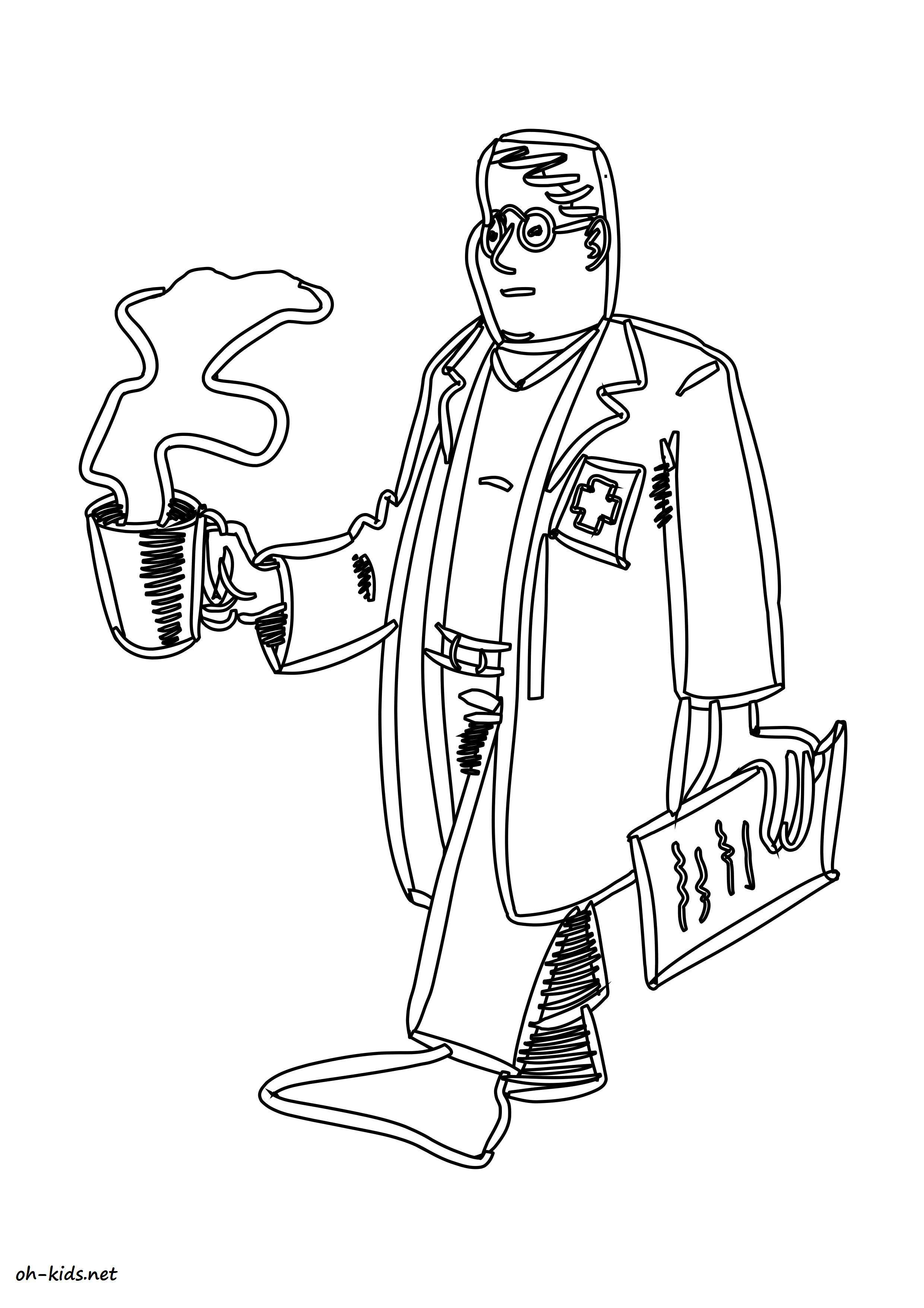 Coloriage personnages page 6 of 17 oh kids fr - Coloriage docteur ...