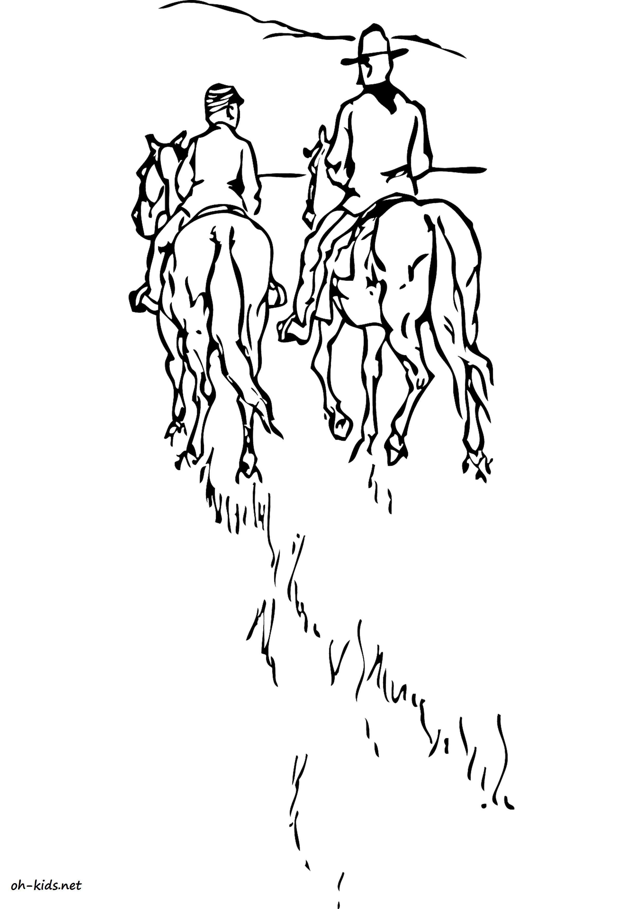 Dessin 1372 coloriage quitation imprimer oh - Coloriage equitation ...