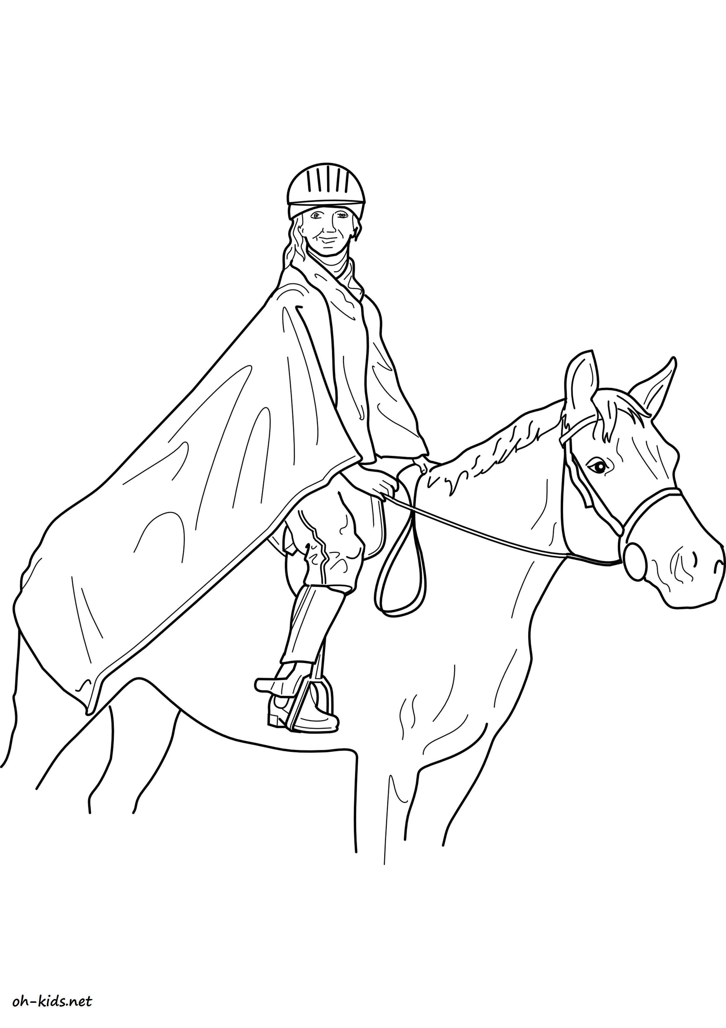 Image de équitation a imprimer et colorier - Dessin #1373