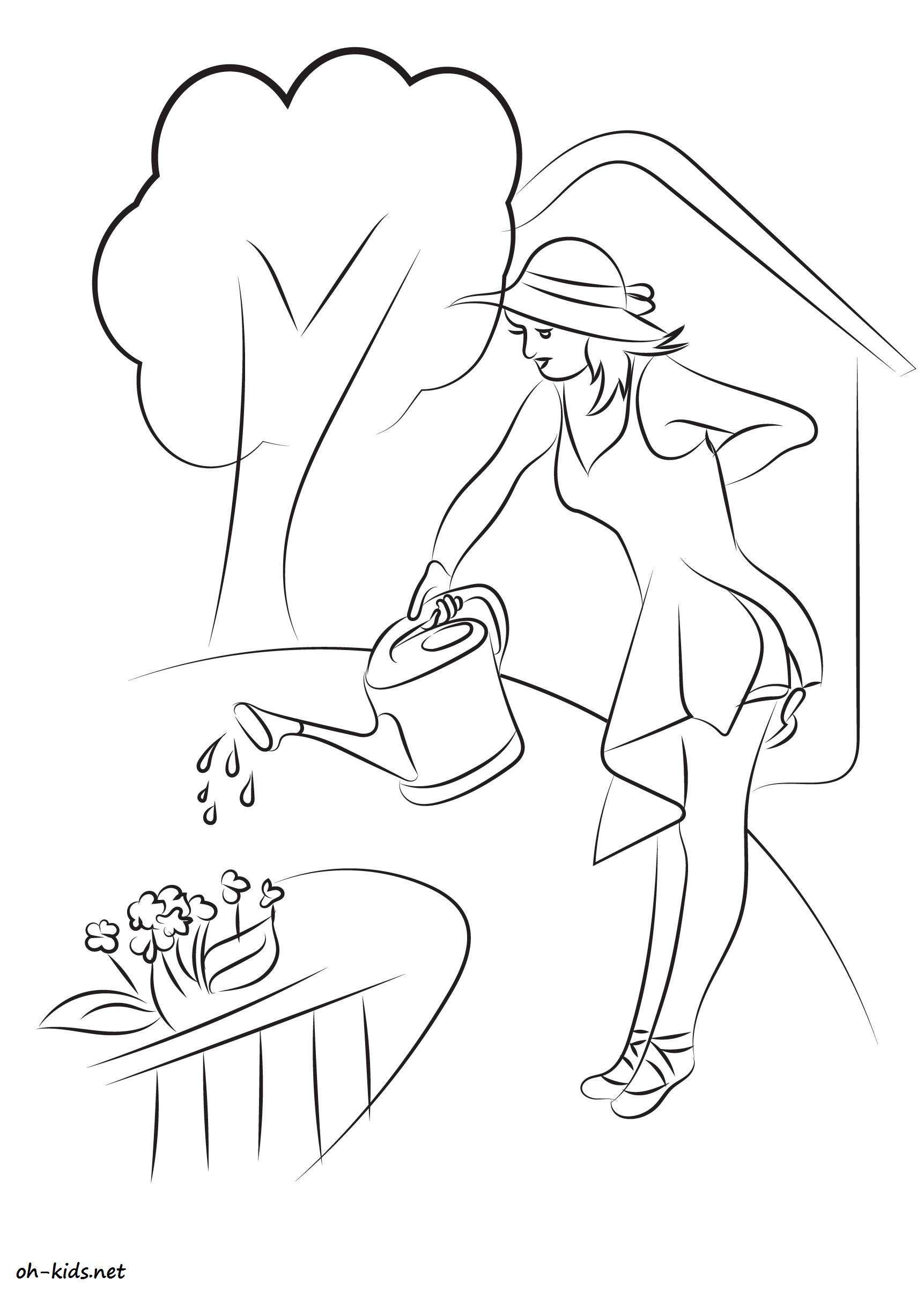 Une belle image de fermier a colorier - Dessin #815