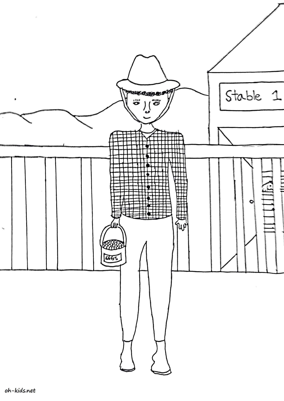 Dessin gratuit fermier à imprimer - Dessin #817