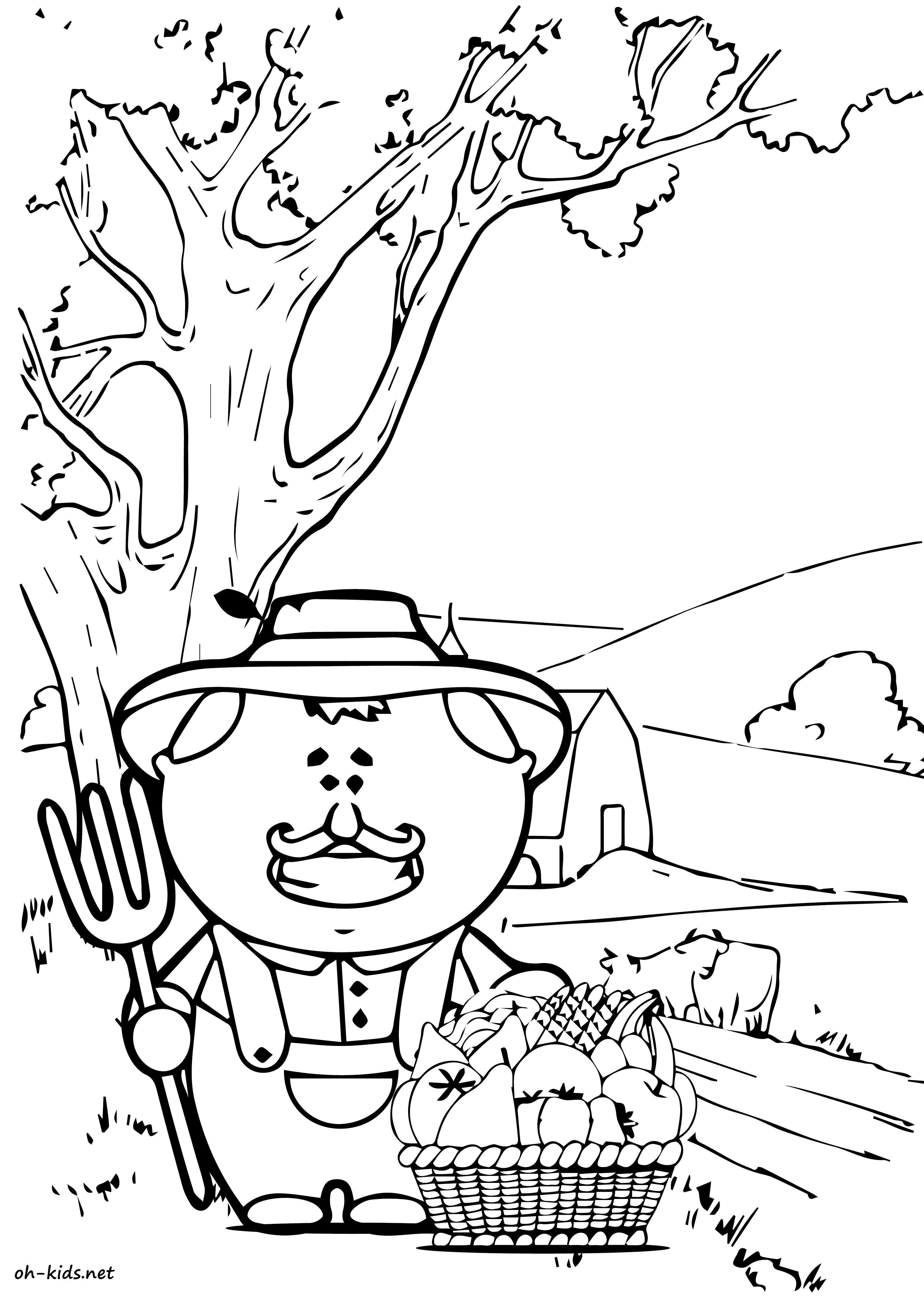 Coloriage de fermier a colorier - Dessin #818