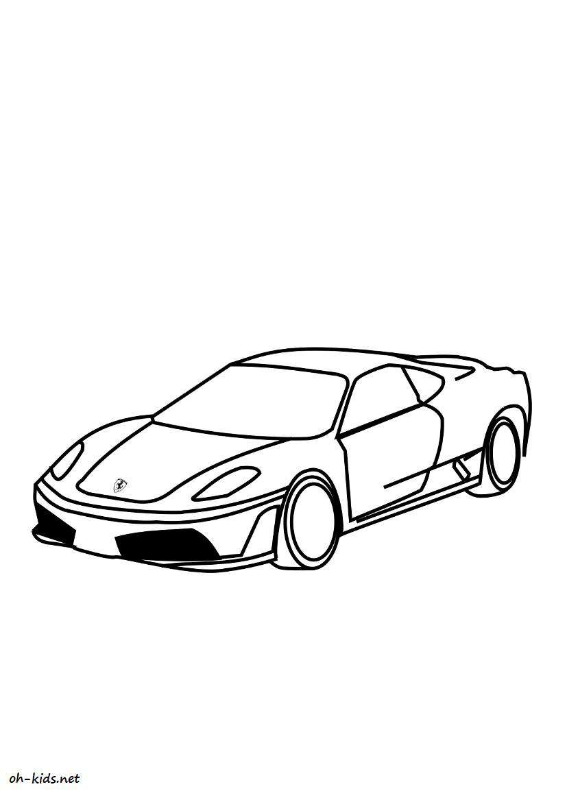Coloriage Ferrari Page 2 Of 3 Oh Kids Fr