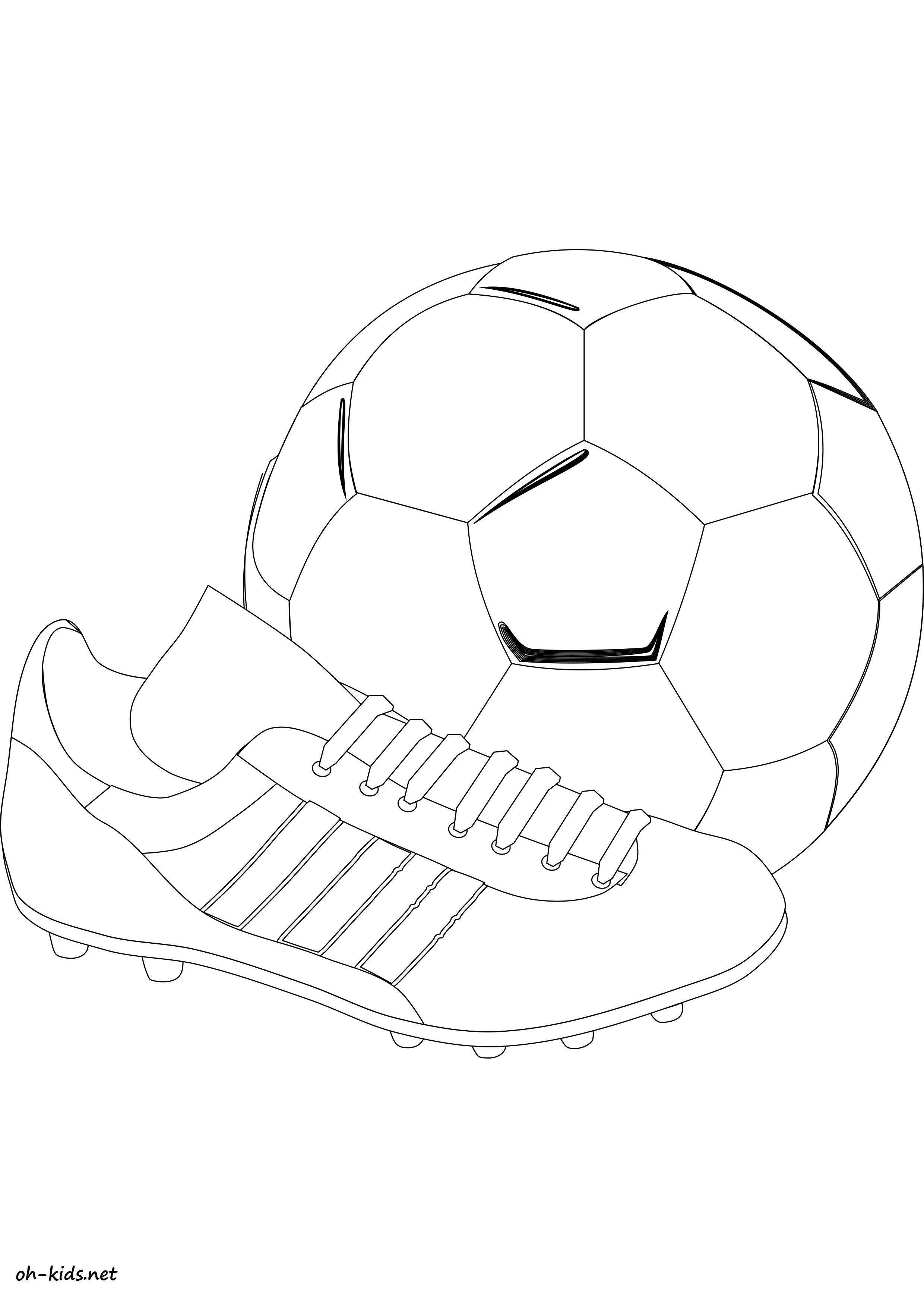 coloriage de foot à imprimer - Dessin #1135