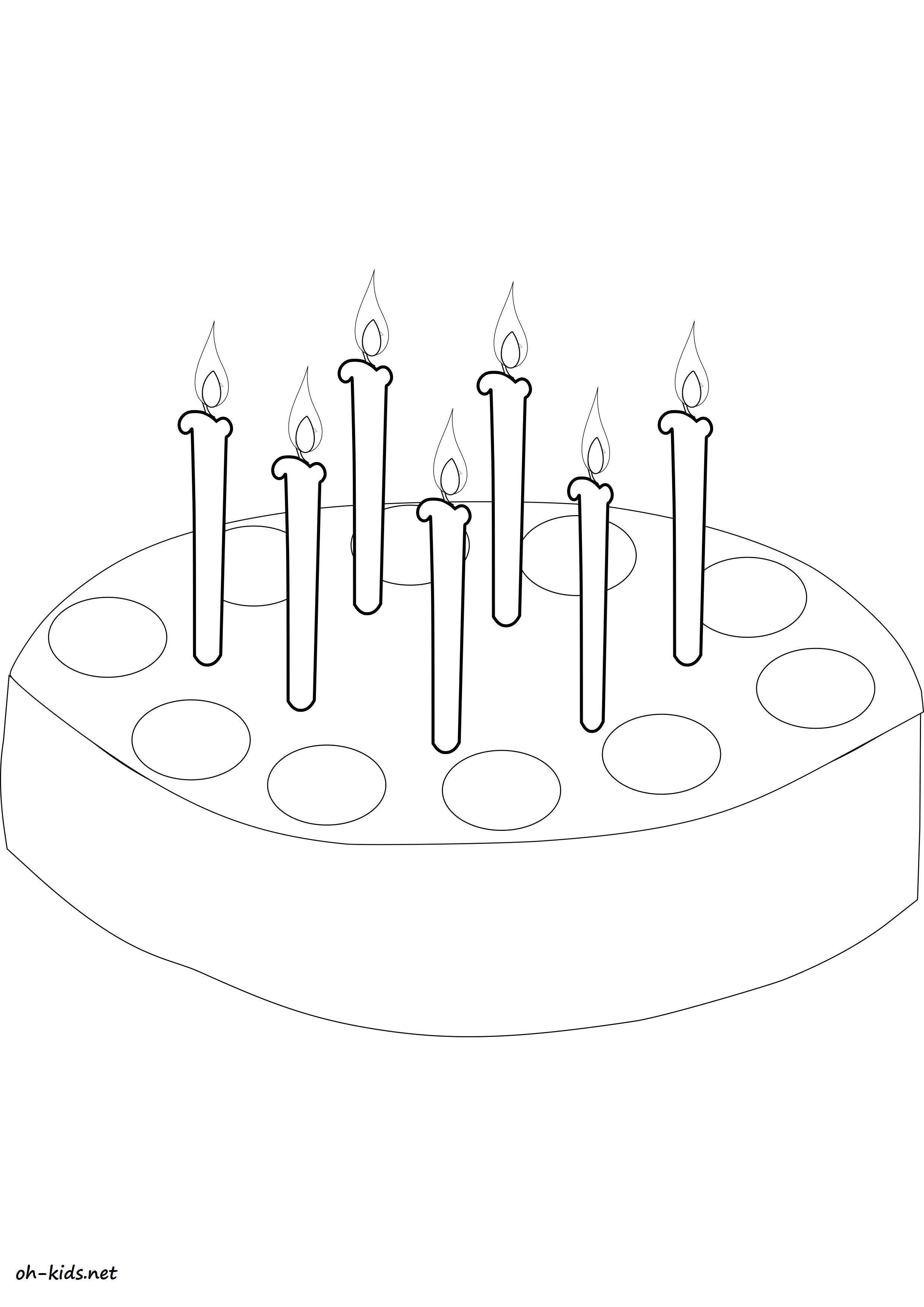 coloriage gâteau anniversaire gratuit a imprimer et colorier - Dessin #1165