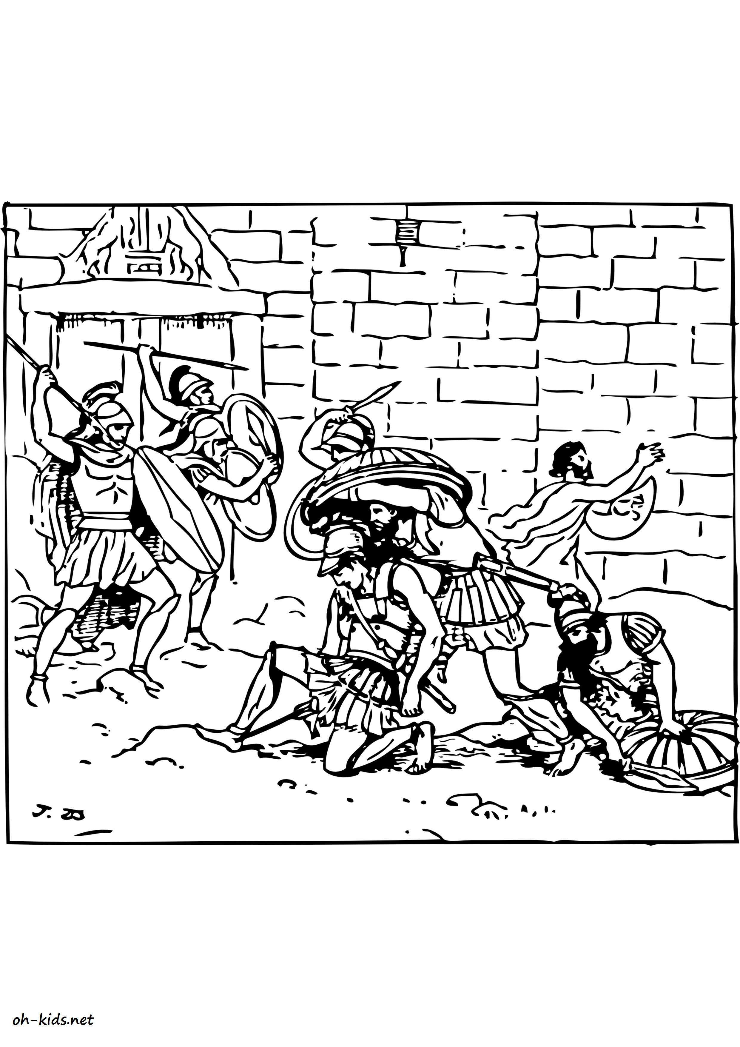 dessin gratuit de guerre a imprimer et colorier - Dessin #1185