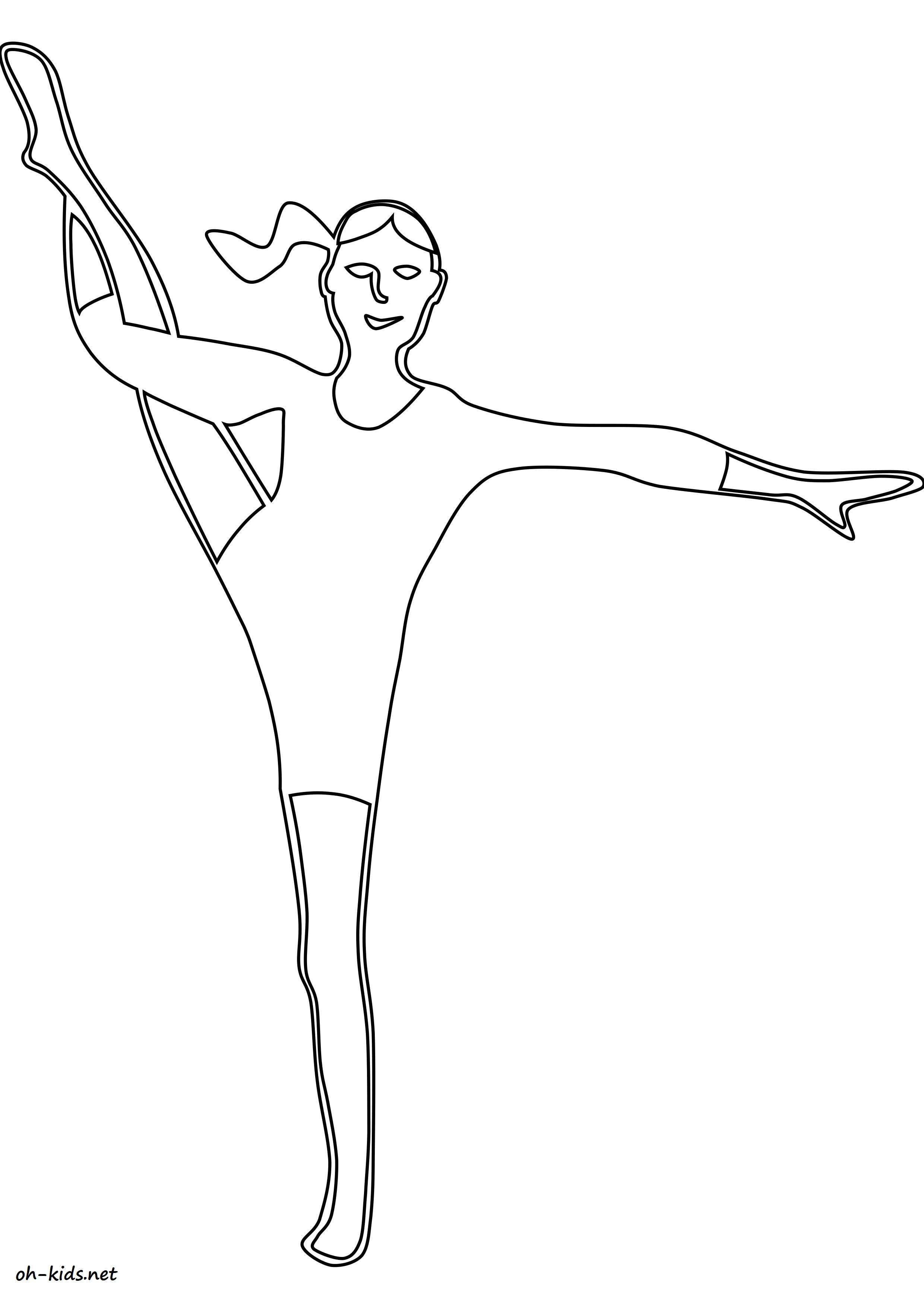 coloriage gymnastique à imprimer et colorier - Dessin #1381