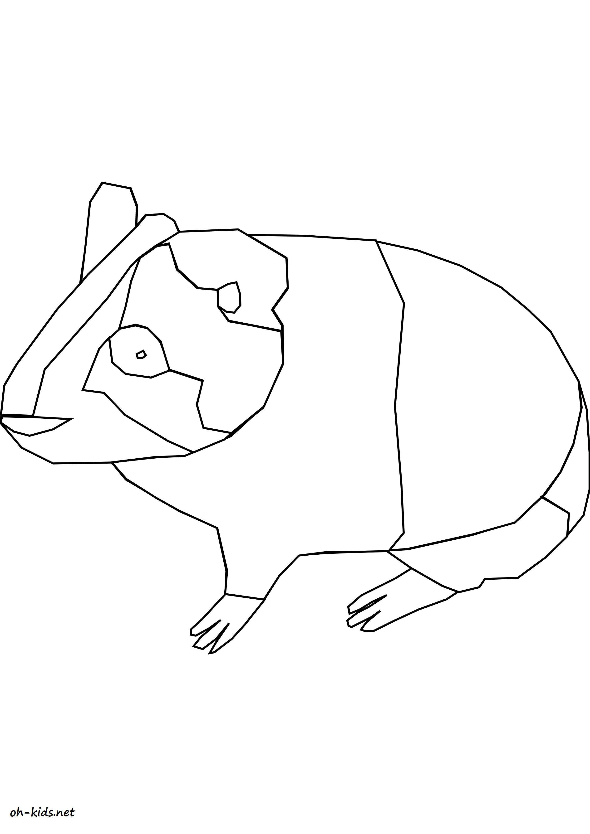 Coloriage animaux page 4 of 84 oh kids fr - Hamster gratuit ...