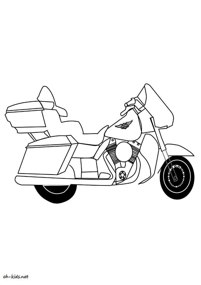 coloriage harley davidson oh kids fr. Black Bedroom Furniture Sets. Home Design Ideas