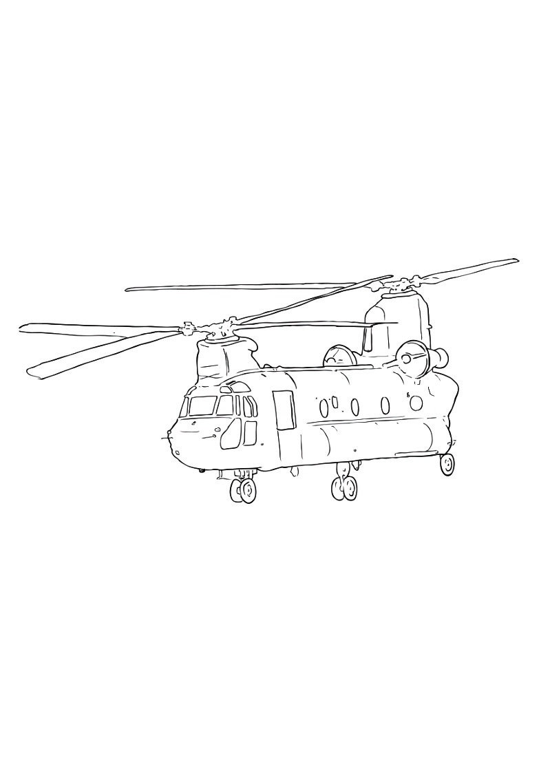 Dessin 957 Coloriage Hélicoptère à Imprimer Oh Kids Net